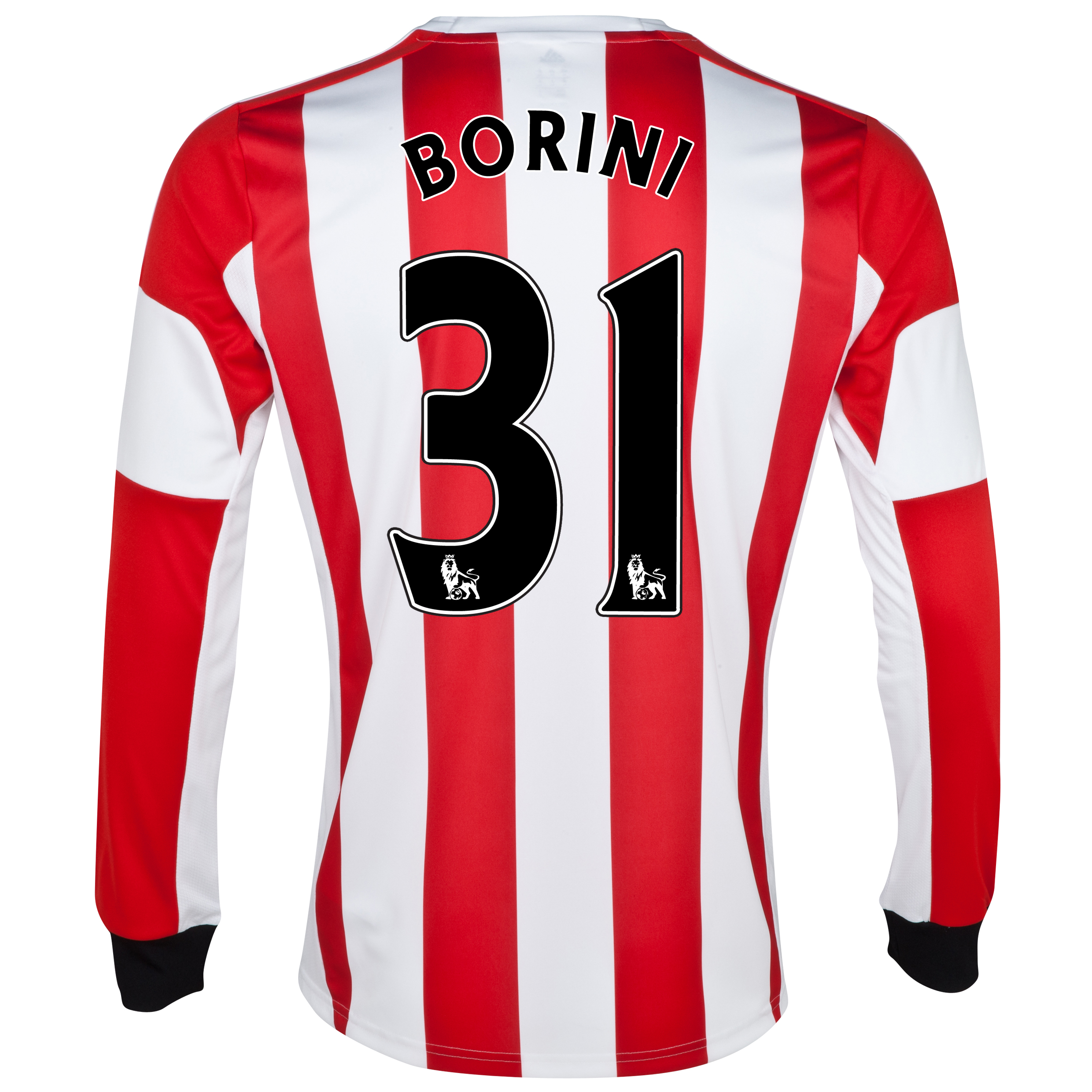 Sunderland Home Shirt 2013/14 - Long Sleeved - Junior with Borini 31 printing