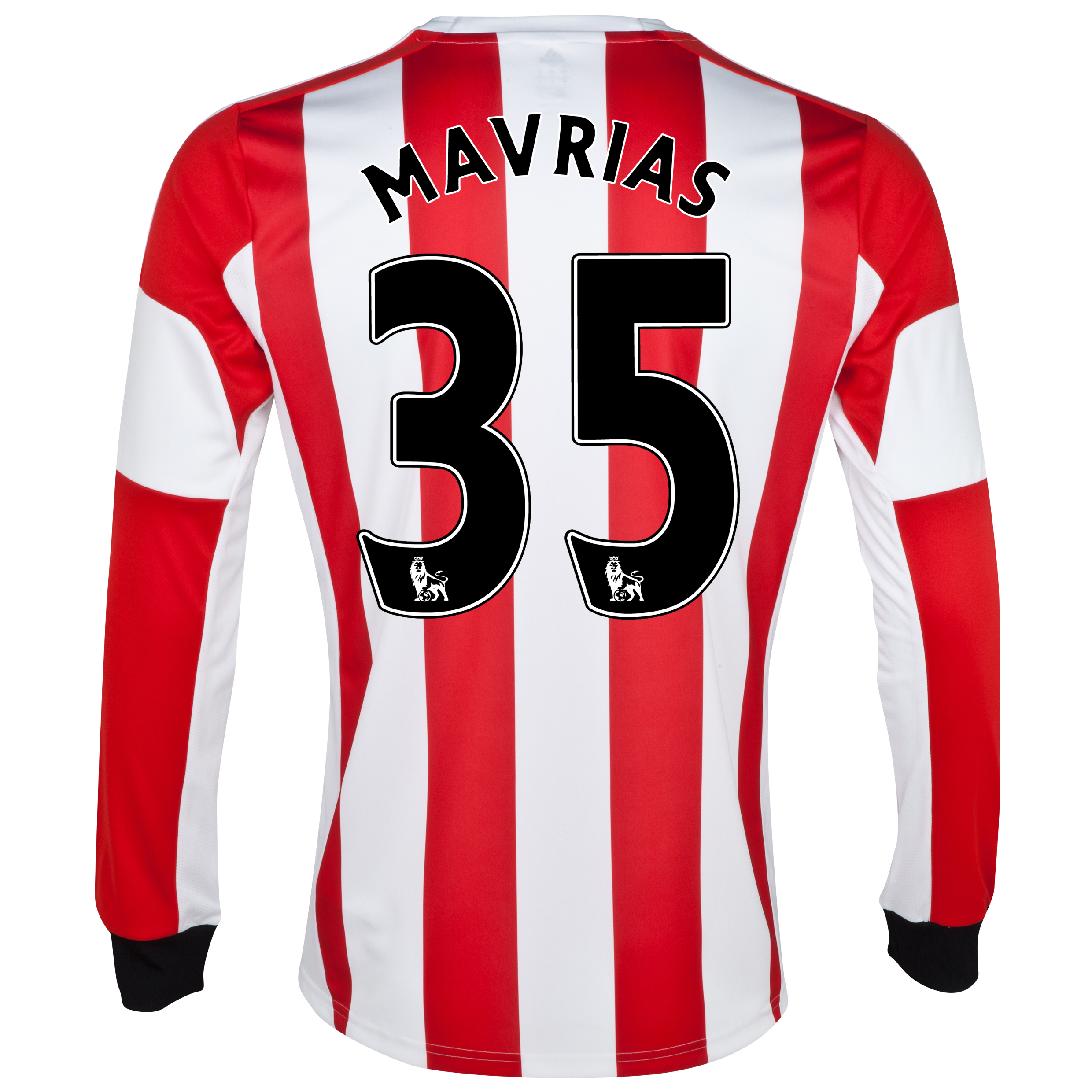 Sunderland Home Shirt 2013/14 - Long Sleeved with Mavrias 35 printing