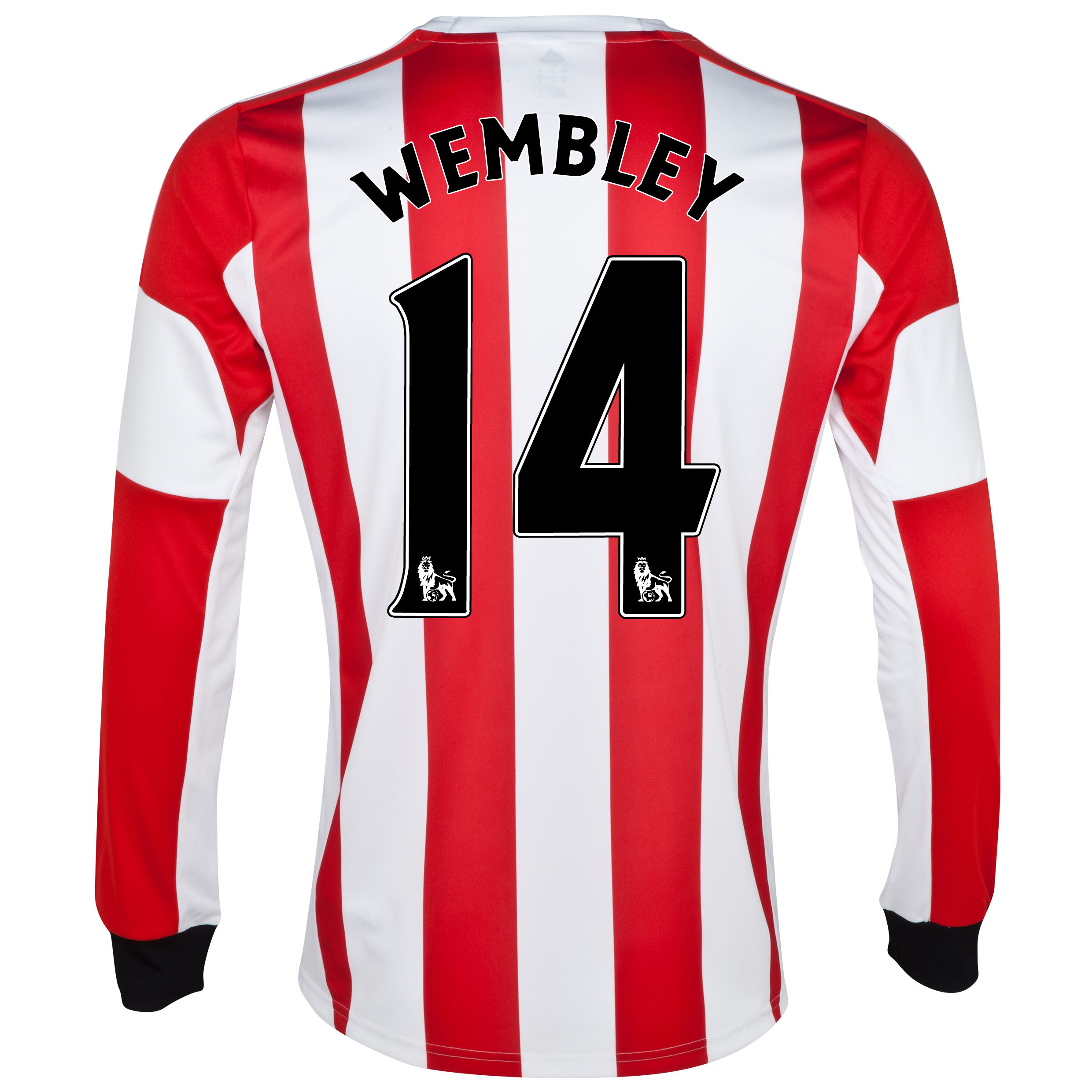 Sunderland Home Shirt 2013/14 - Long Sleeved - Junior with Wembley 14 printing