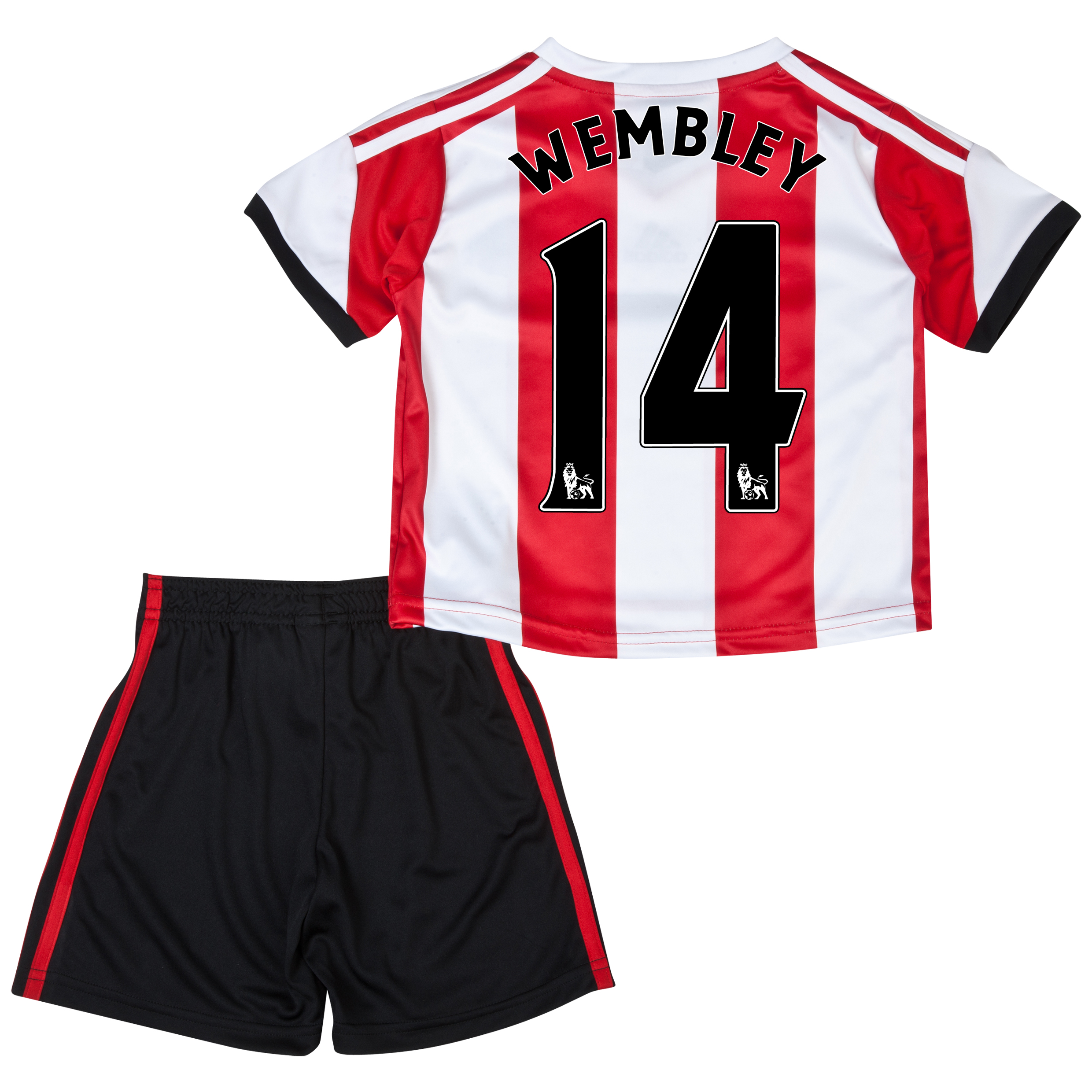 Sunderland Home Minikit 2013/14 - Infants with Wembley 14 printing