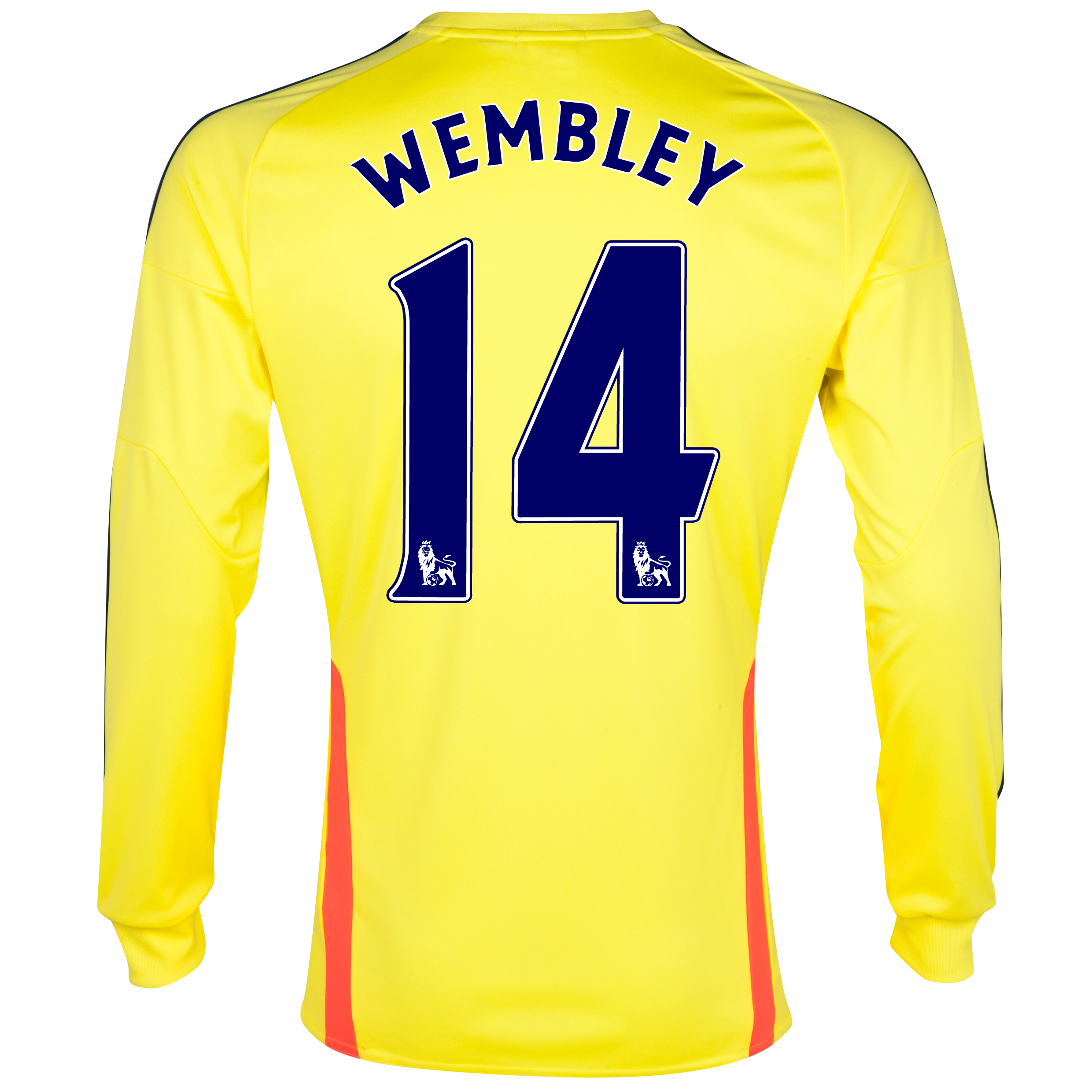 Sunderland Away Shirt 2013/14 - Long Sleeved with Wembley 14 printing