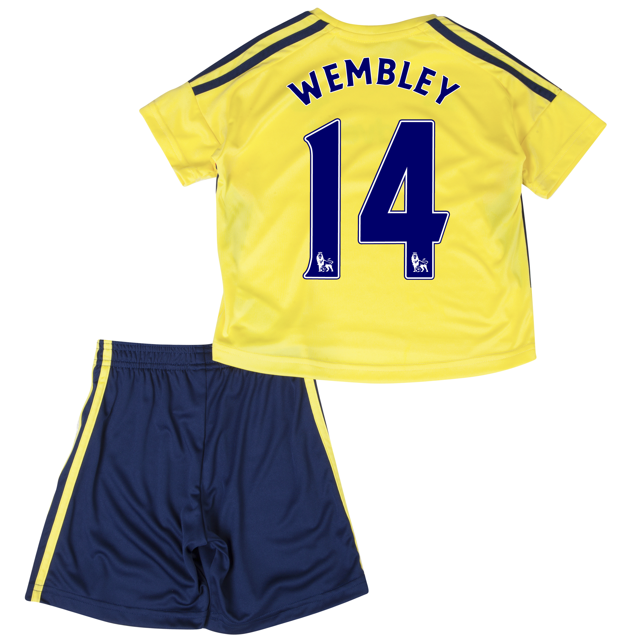 Sunderland Away Minikit 2013/14 - Infants with Wembley 14 printing