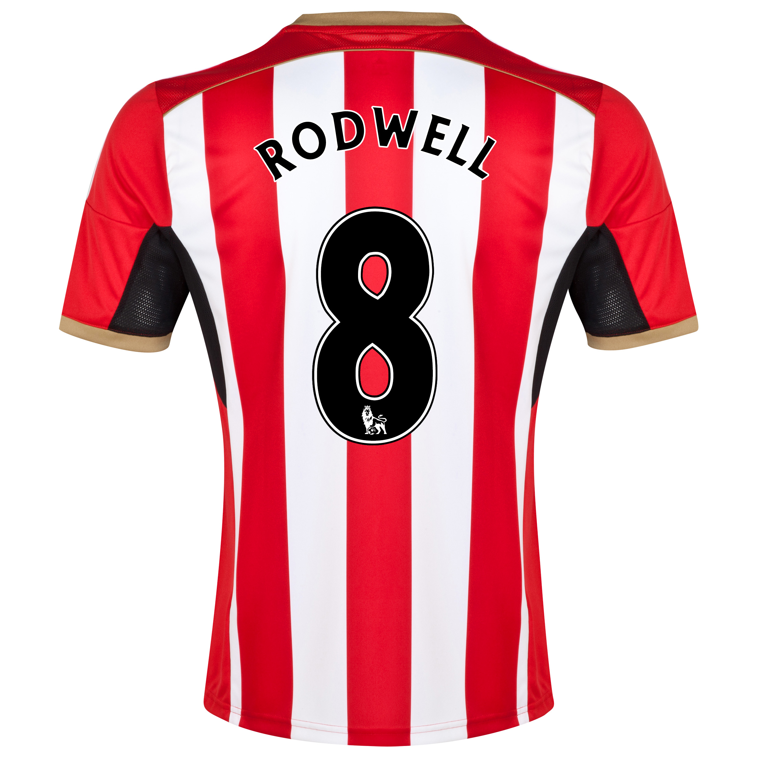 Sunderland Home Shirt 2014/15 Red with Rodwell 8 printing