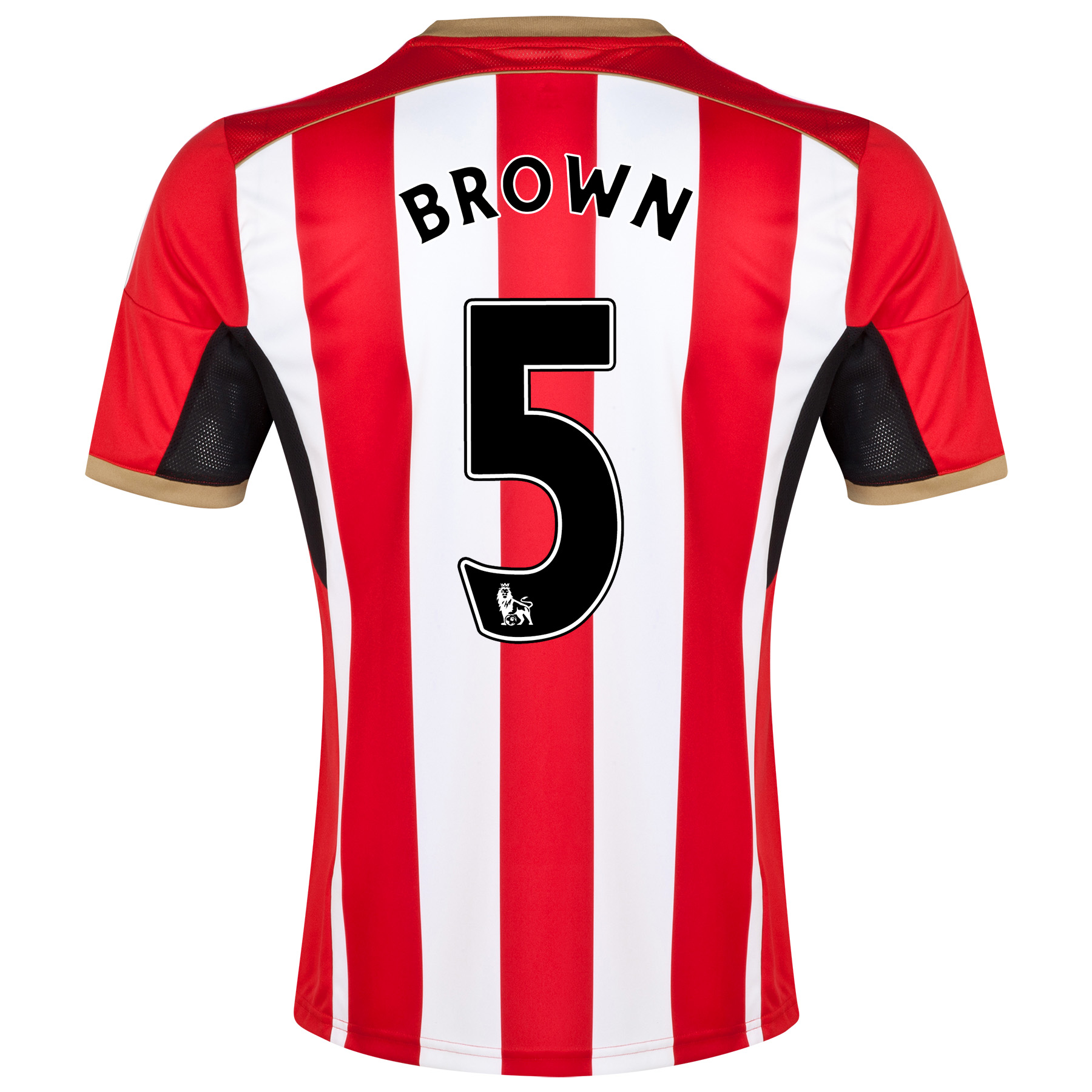 Sunderland Home Shirt 2014/15 Red with Brown 5 printing