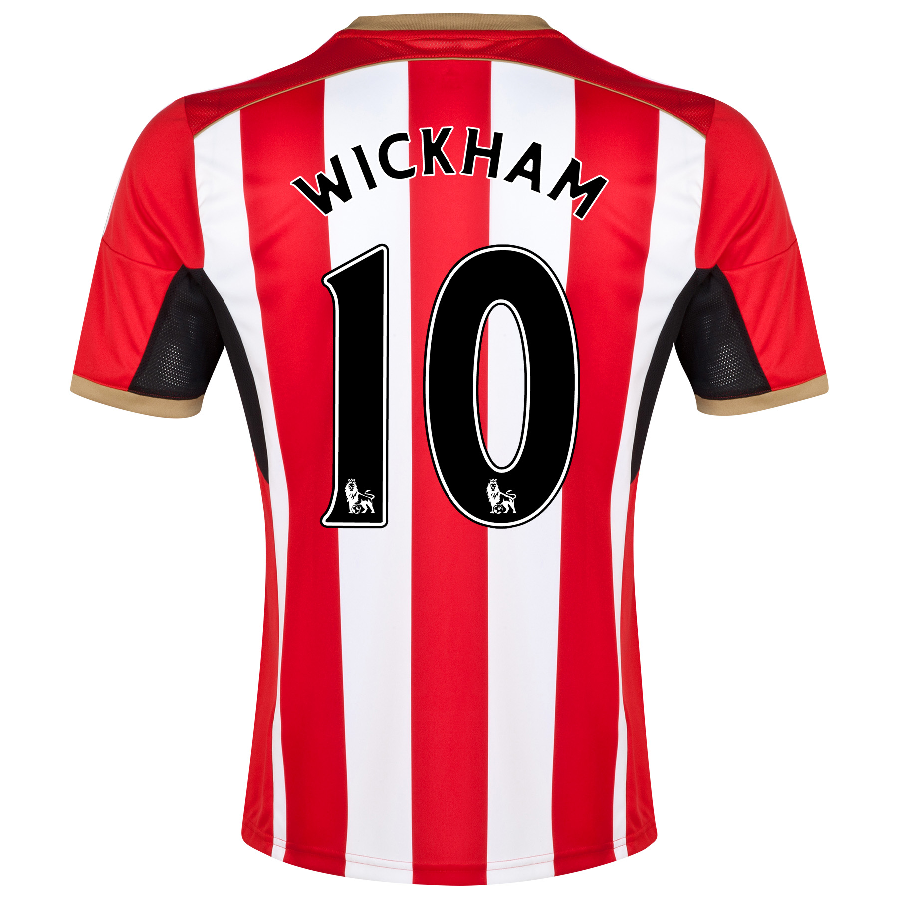 Sunderland Home Shirt 2014/15 Red with Wickham 10 printing