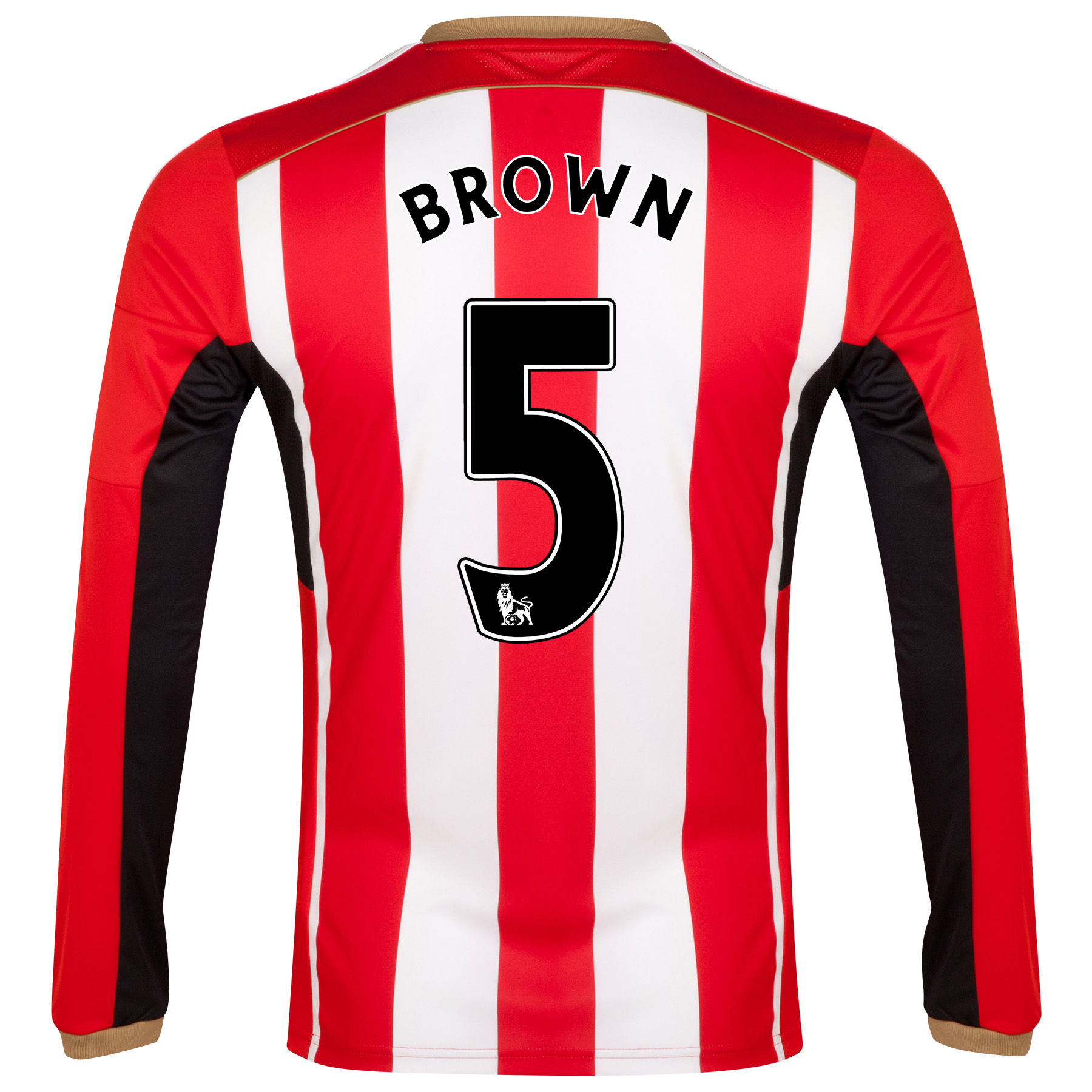 Sunderland Home Shirt 2014/15 - Long Sleeved Red with Brown 5 printing