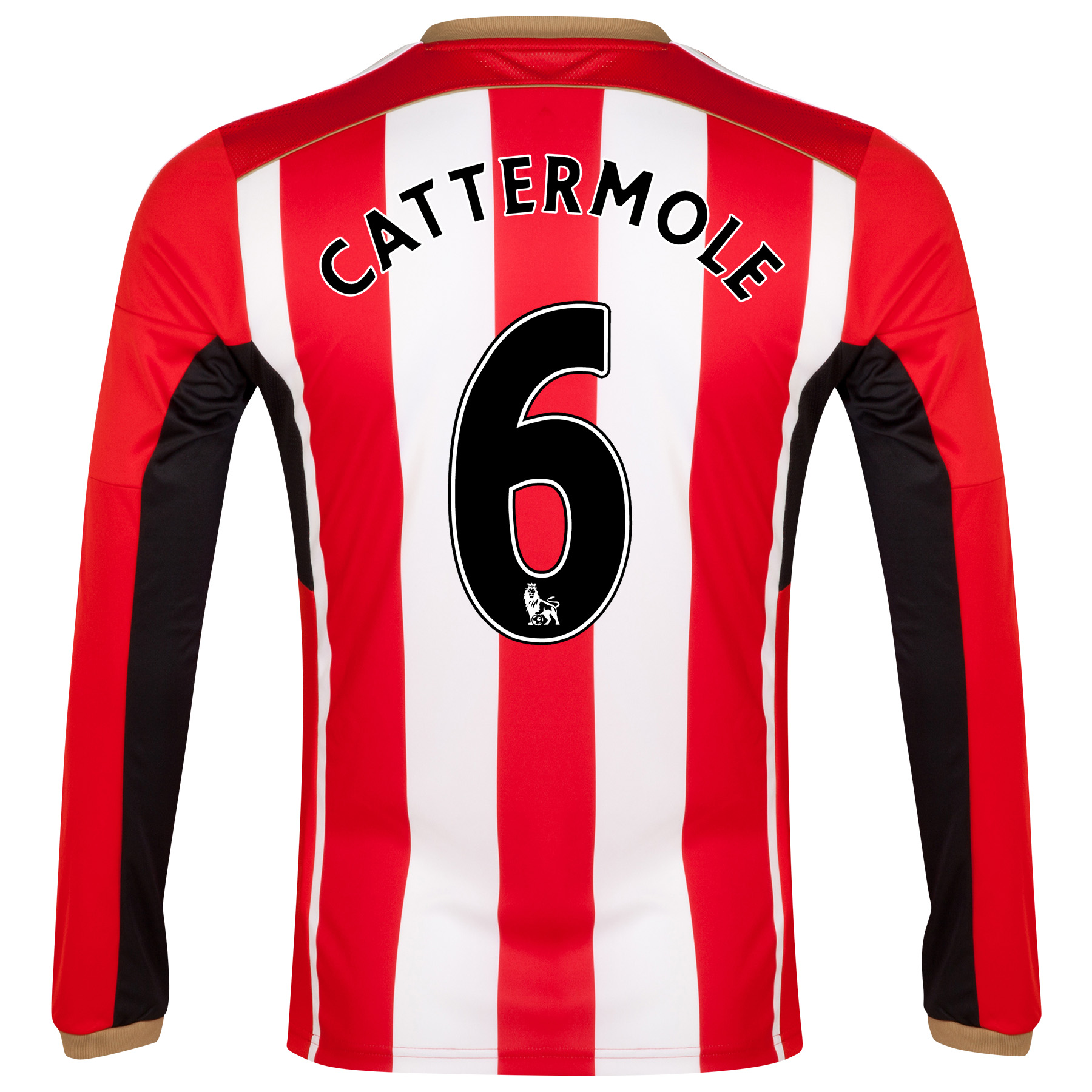 Sunderland Home Shirt 2014/15 - Long Sleeved Red with Cattermole 6 printing