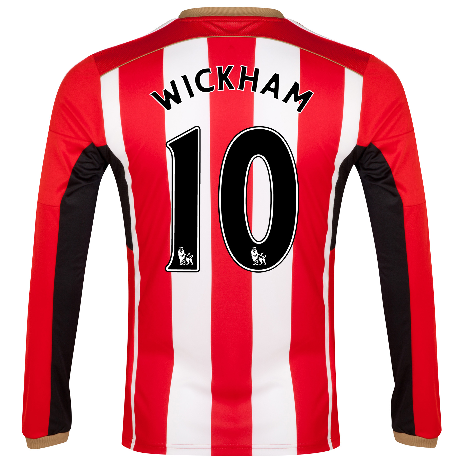 Sunderland Home Shirt 2014/15 - Long Sleeved Red with Wickham 10 printing