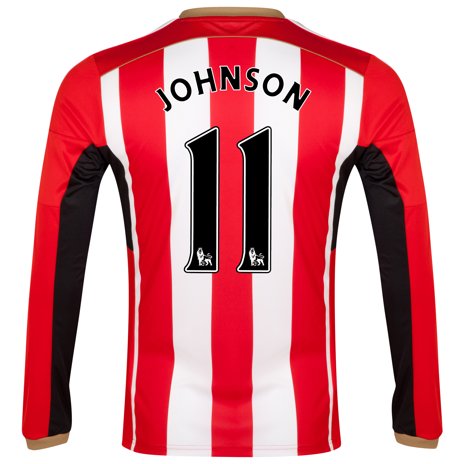 Sunderland Home Shirt 2014/15 - Long Sleeved Red with Johnson 11 printing