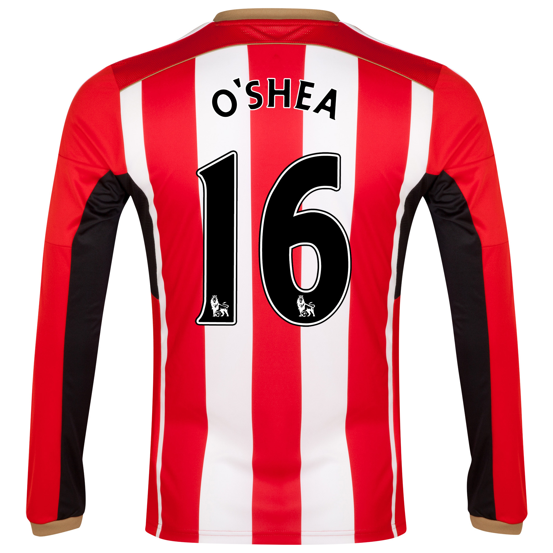 Sunderland Home Shirt 2014/15 - Long Sleeved Red with O'Shea 16 printing
