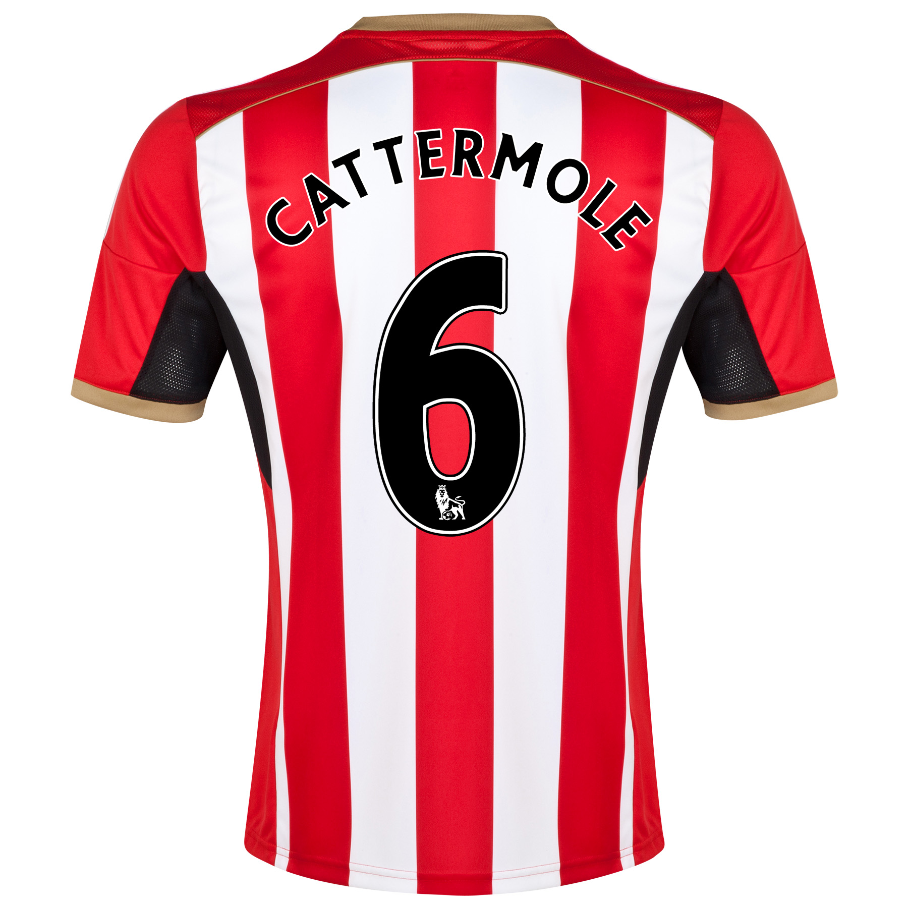 Sunderland Home Shirt 2014/15 - Junior Red with Cattermole 6 printing