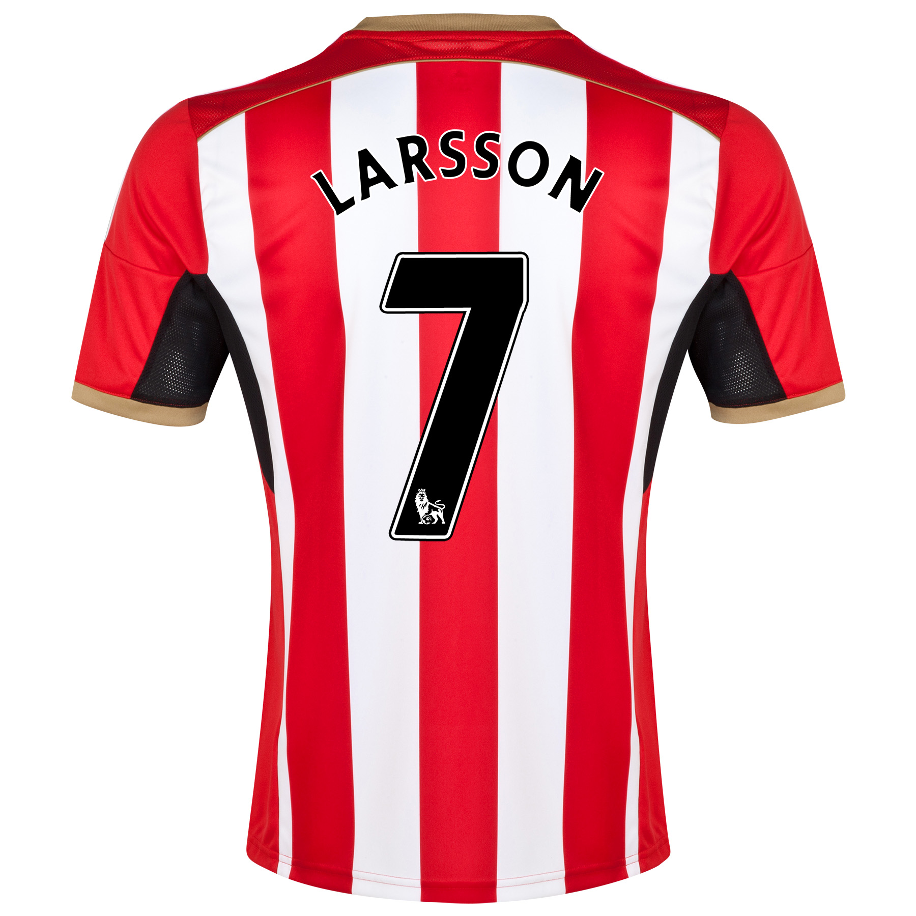 Sunderland Home Shirt 2014/15 - Junior Red with Larsson 7 printing