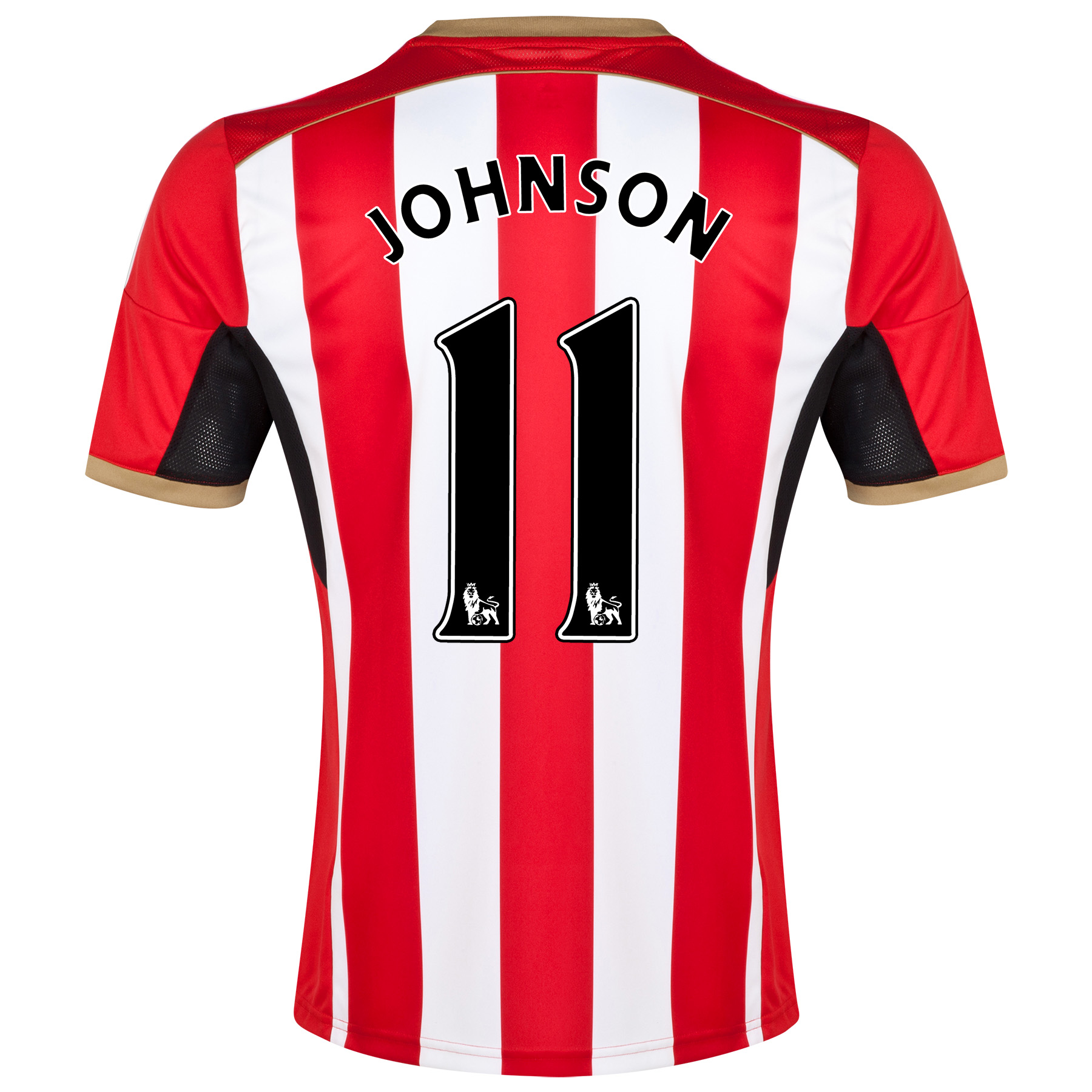 Sunderland Home Shirt 2014/15 - Junior Red with Johnson 11 printing