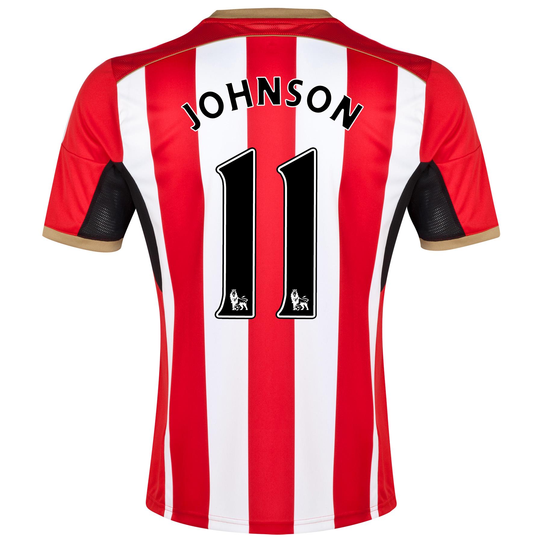 Sunderland Home Shirt 2014/15 - Junior Red with Johnson 11 printing