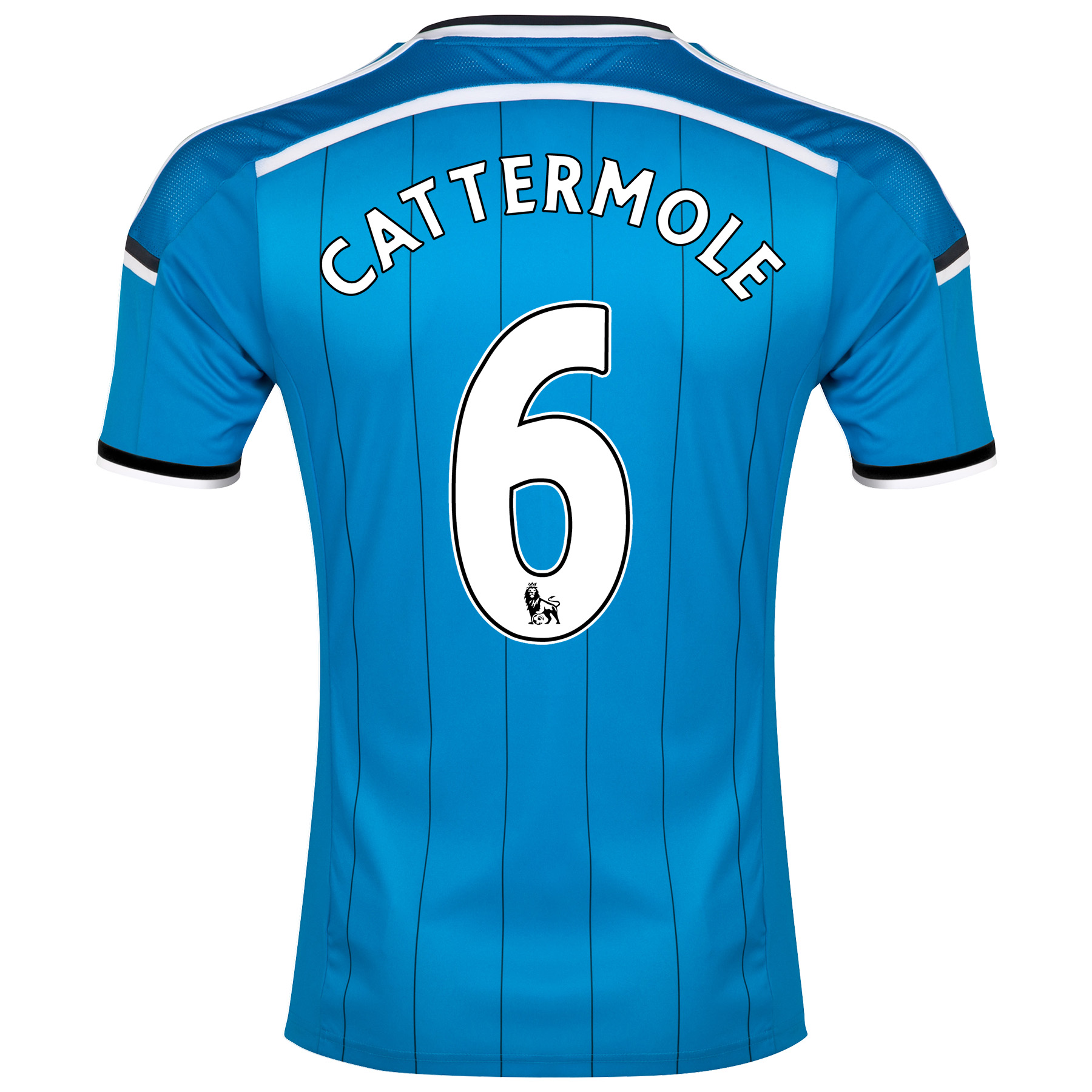 Sunderland Away Shirt 2014/15 Lt Blue with Cattermole 6 printing