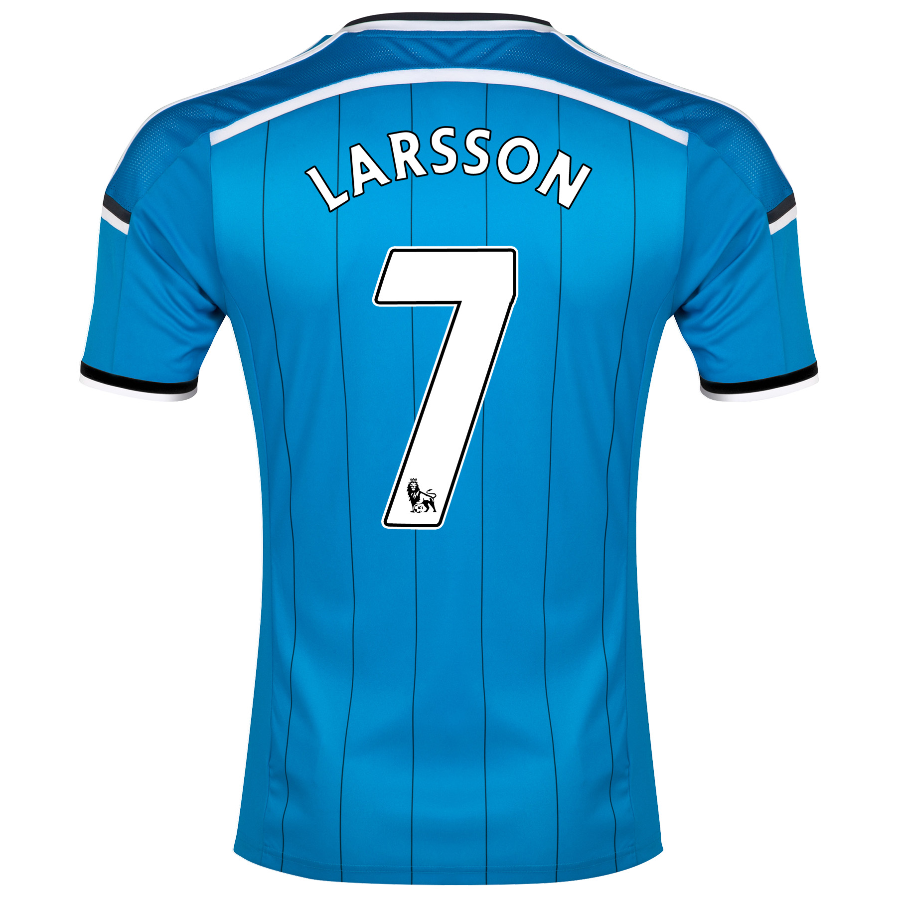 Sunderland Away Shirt 2014/15 Lt Blue with Larsson 7 printing