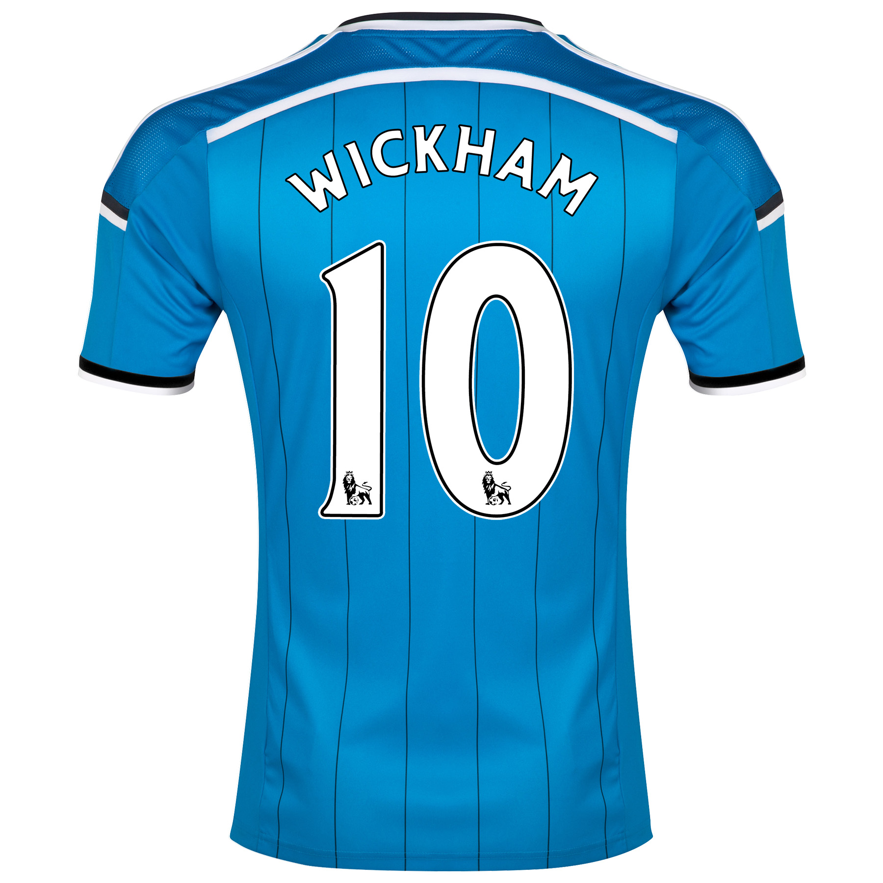Sunderland Away Shirt 2014/15 Lt Blue with Wickham 10 printing
