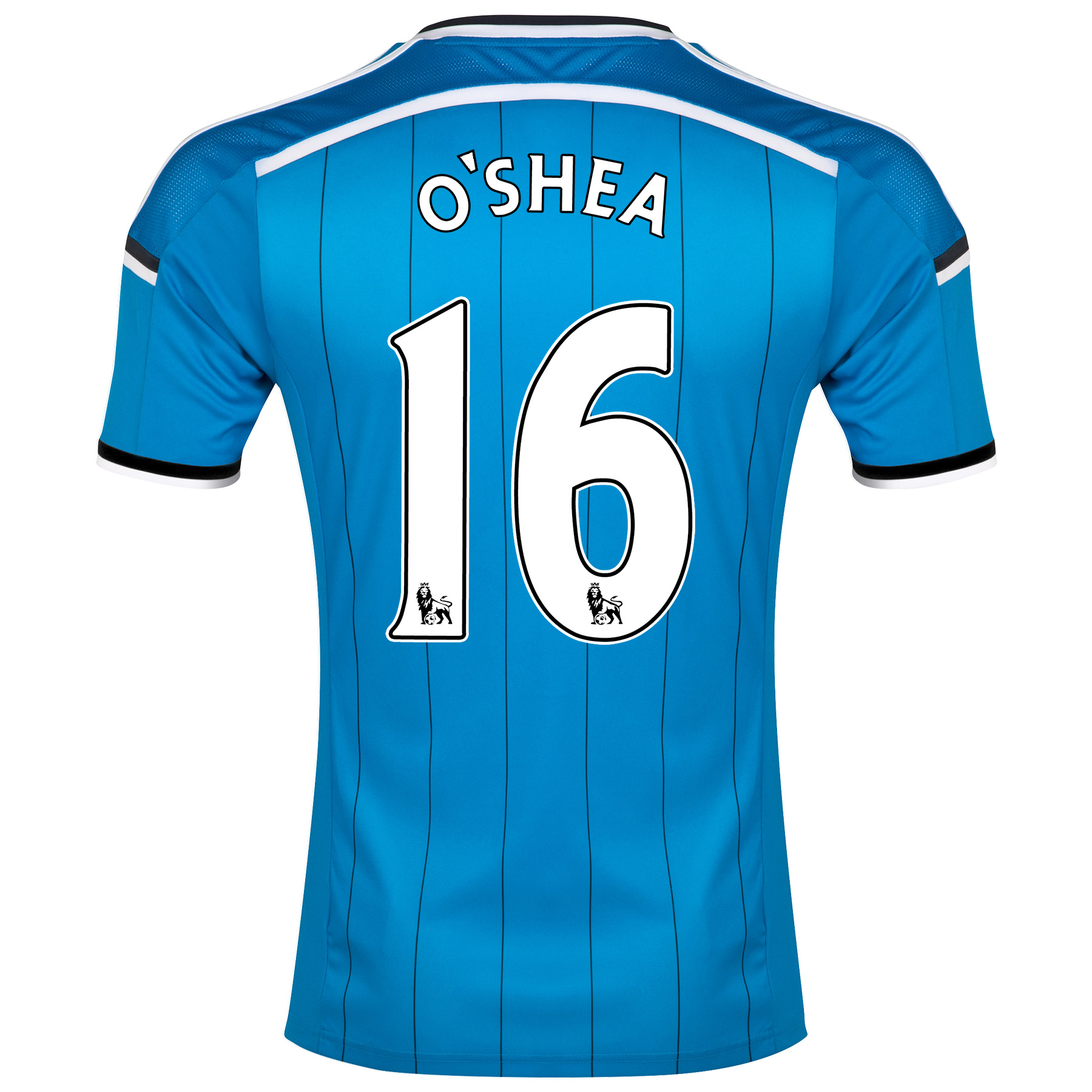 Sunderland Away Shirt 2014/15 Lt Blue with O'Shea 16 printing