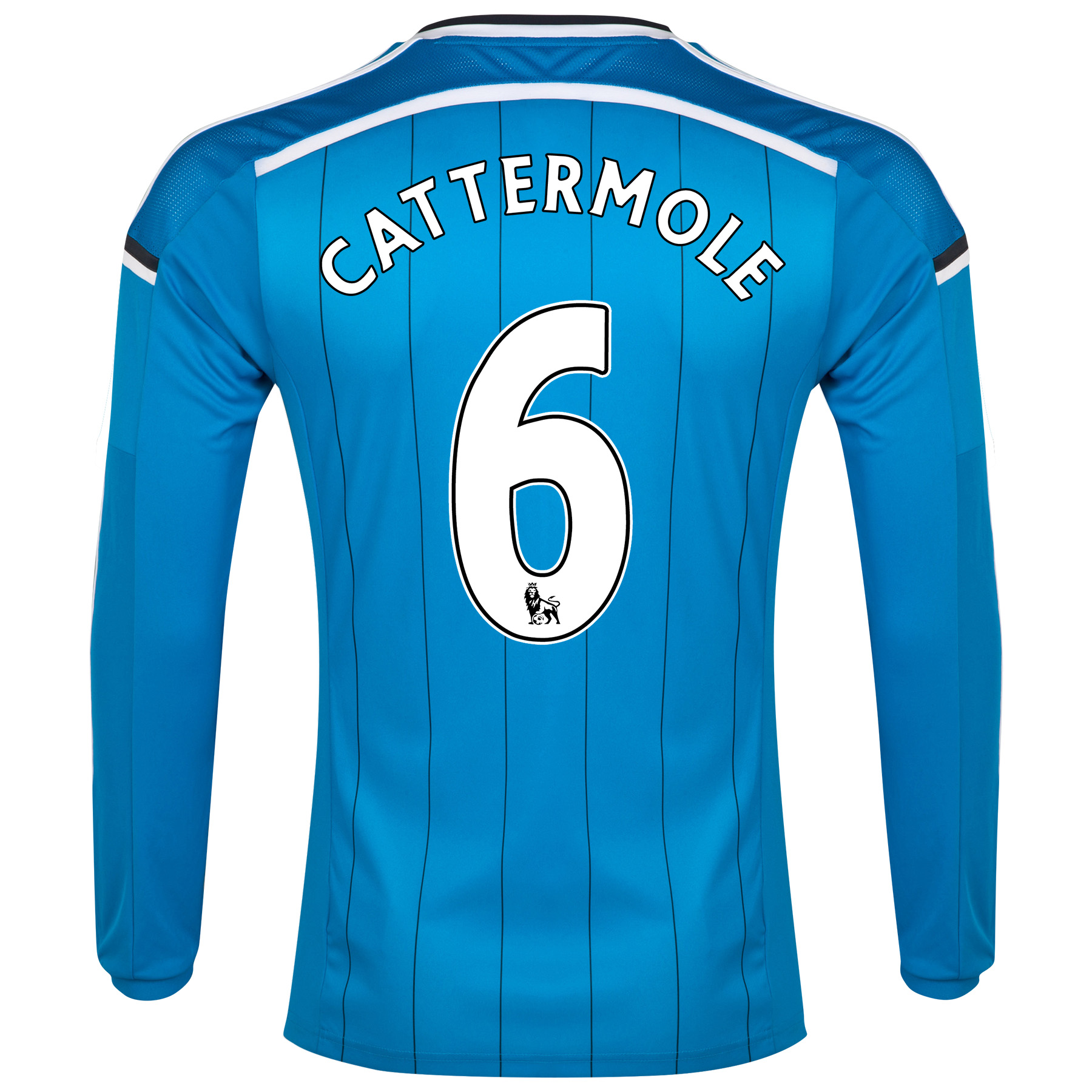 Sunderland Away Shirt 2014/15 - Long Sleeved Lt Blue with Cattermole 6 printing