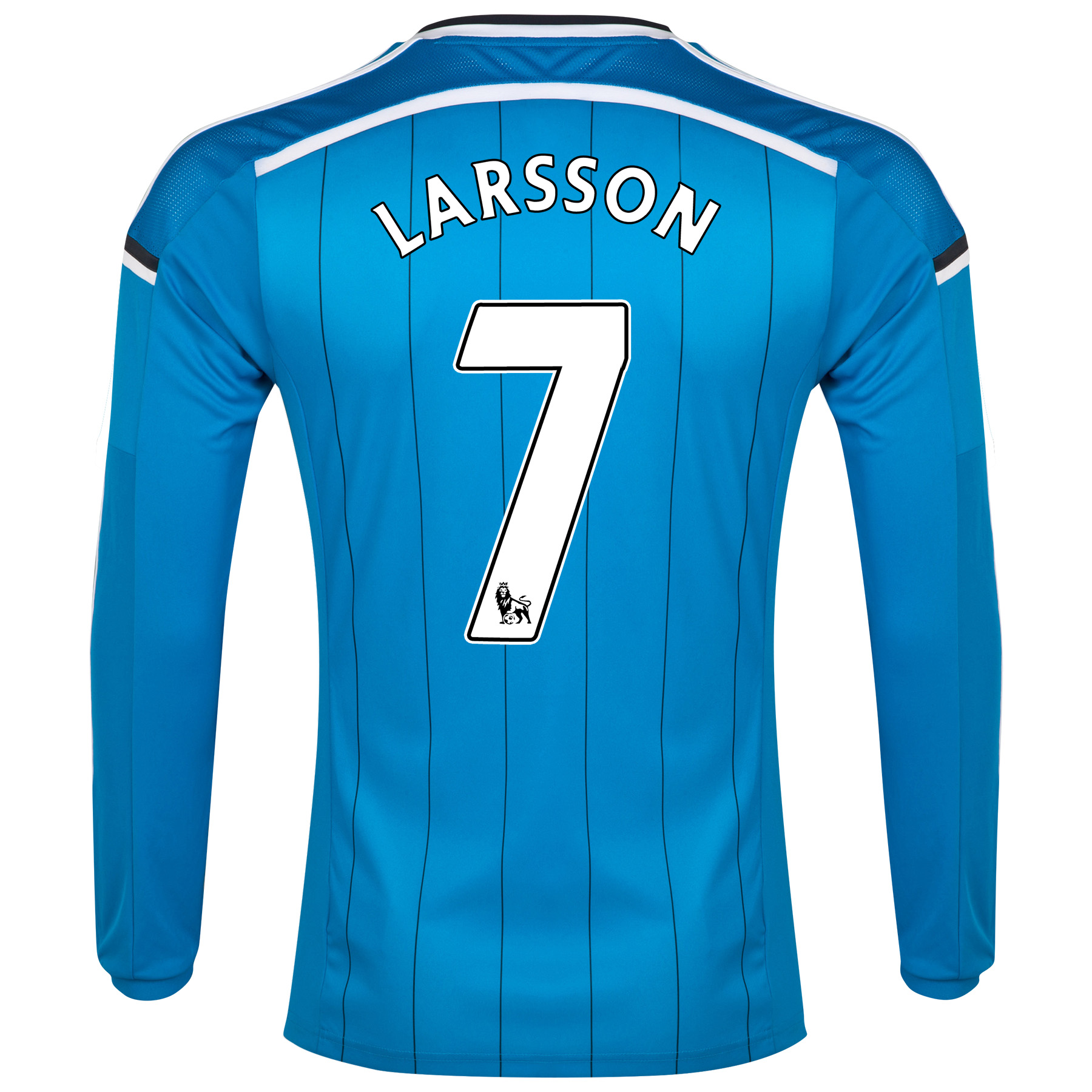 Sunderland Away Shirt 2014/15 - Long Sleeved Lt Blue with Larsson 7 printing