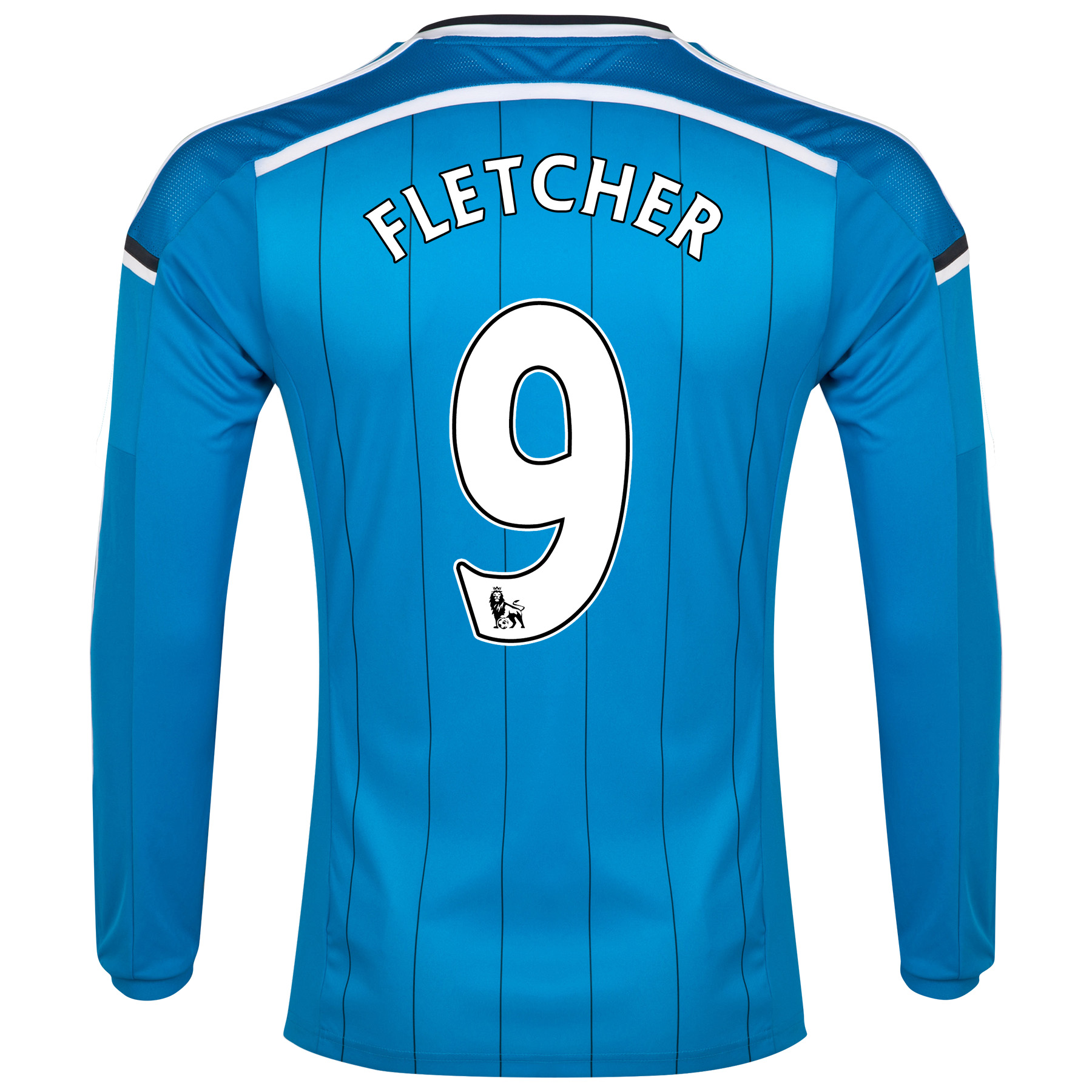 Sunderland Away Shirt 2014/15 - Long Sleeved Lt Blue with Fletcher 9 printing
