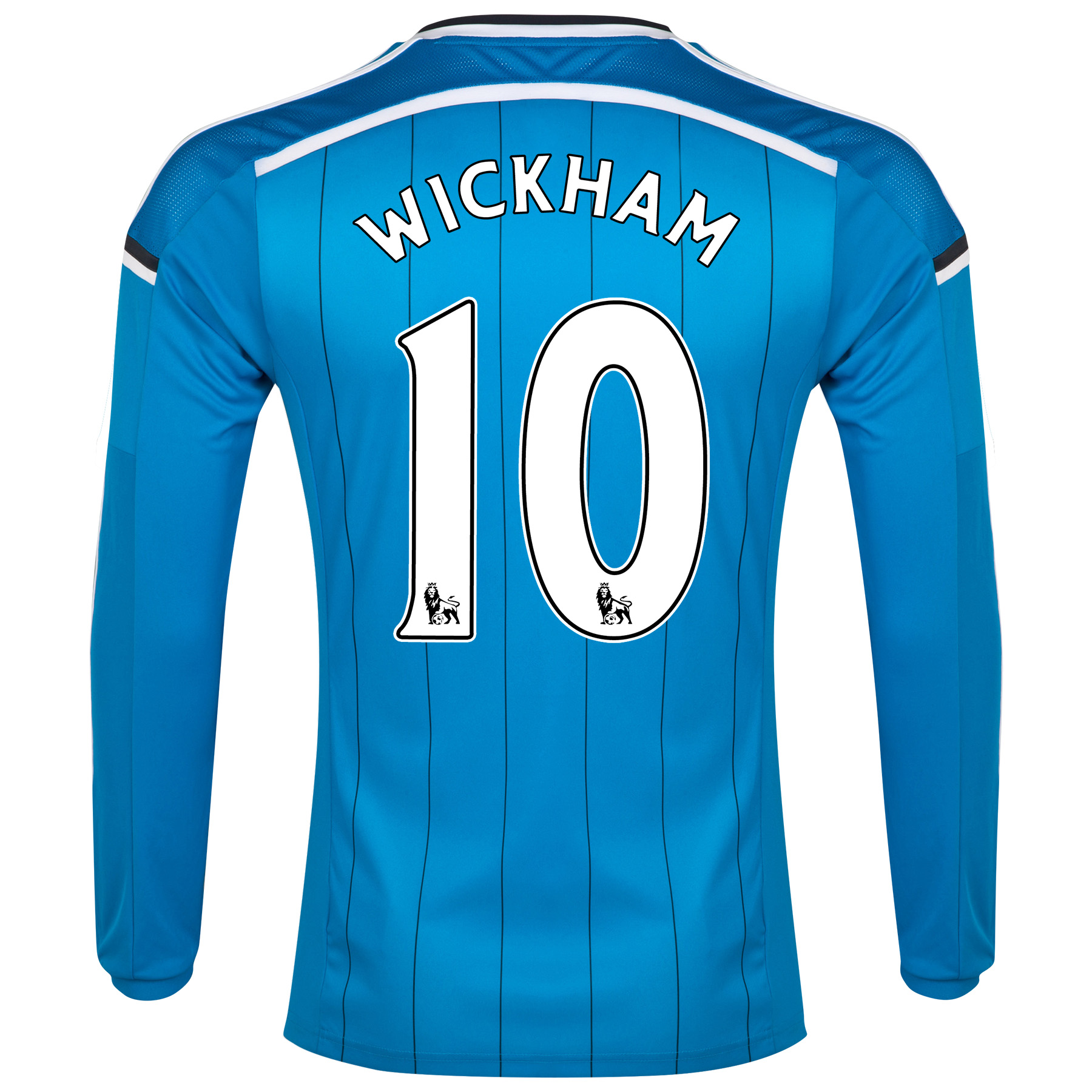 Sunderland Away Shirt 2014/15 - Long Sleeved Lt Blue with Wickham 10 printing
