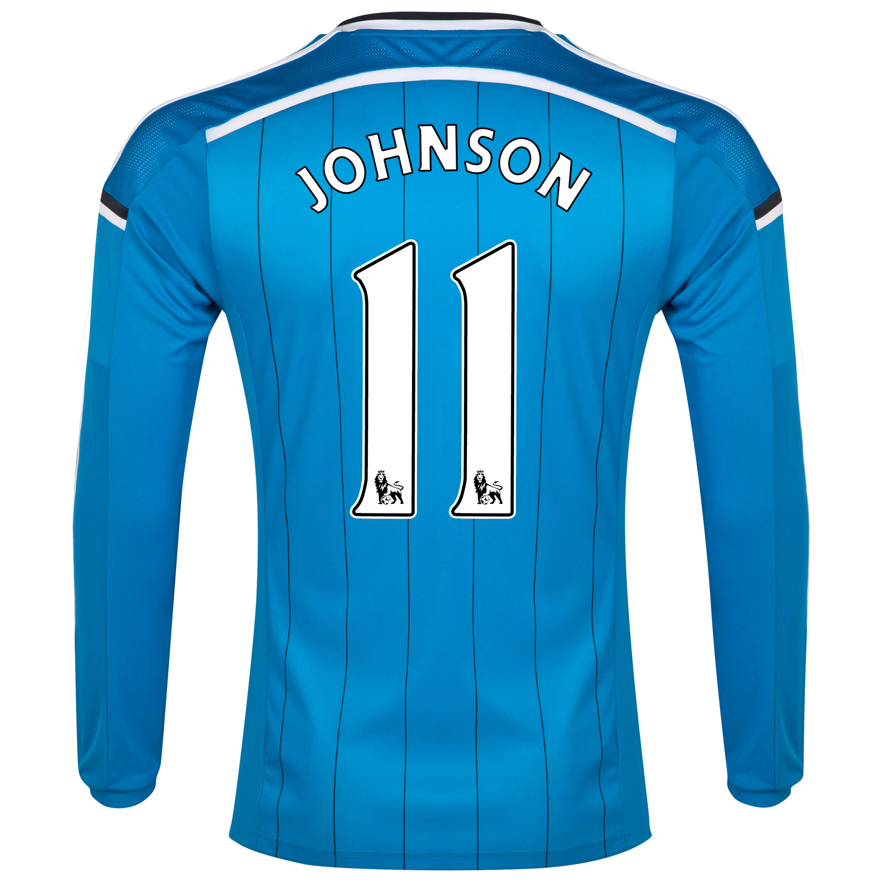 Sunderland Away Shirt 2014/15 - Long Sleeved Lt Blue with Johnson 11 printing