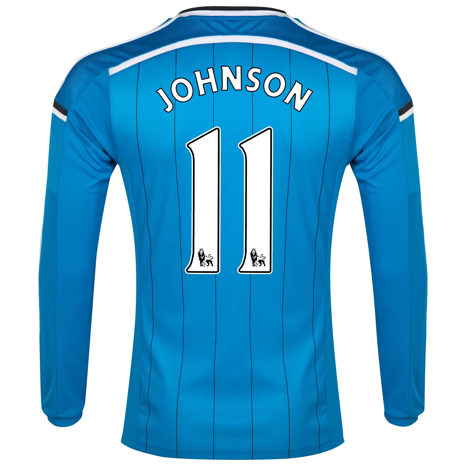 Sunderland Away Shirt 2014/15 - Long Sleeved Lt Blue with Johnson 11 printing