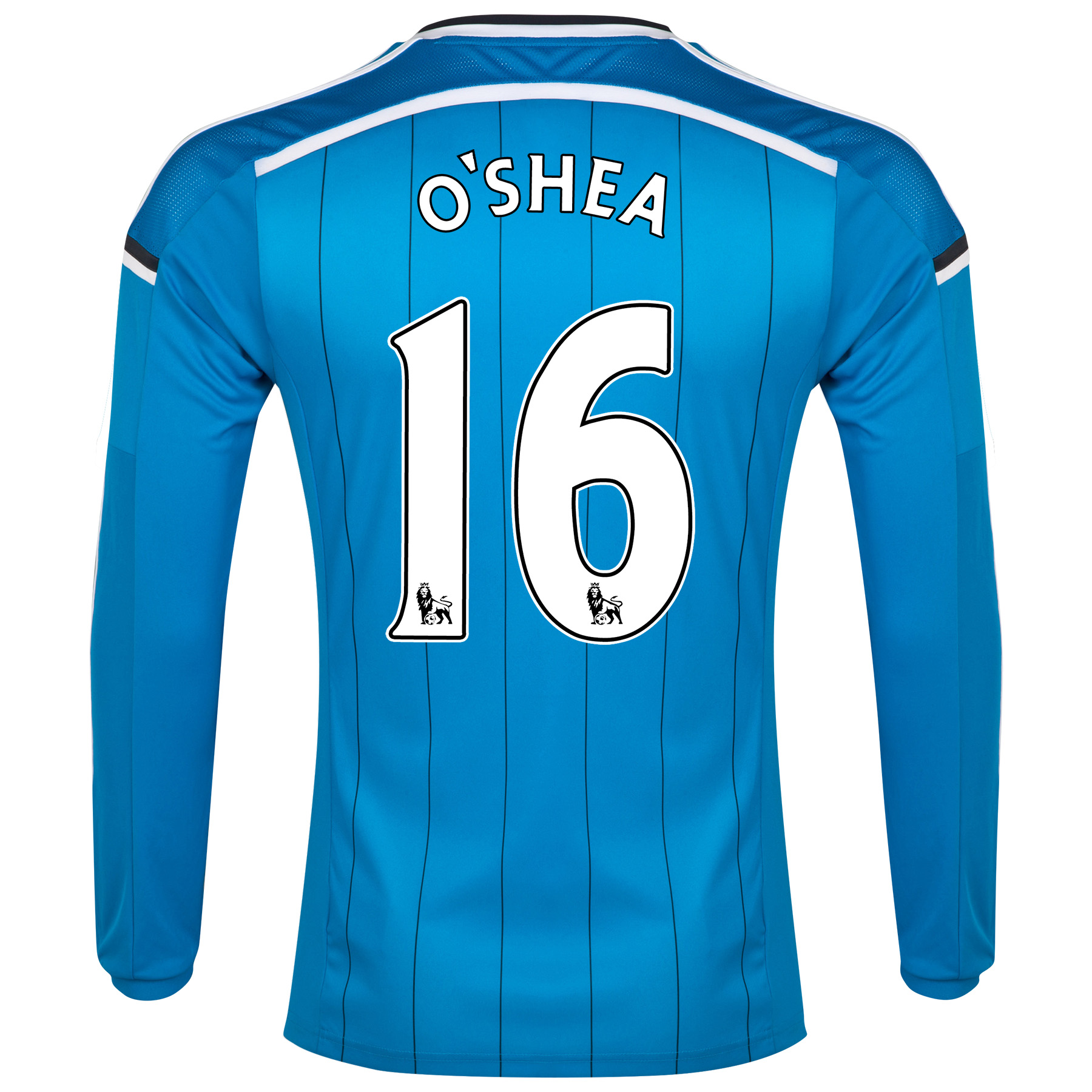 Sunderland Away Shirt 2014/15 - Long Sleeved Lt Blue with O'Shea 16 printing