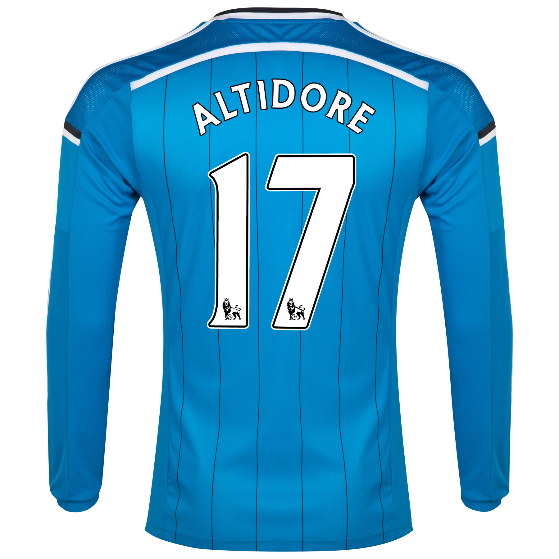 Sunderland Away Shirt 2014/15 - Long Sleeved Lt Blue with Altidore 17 printing