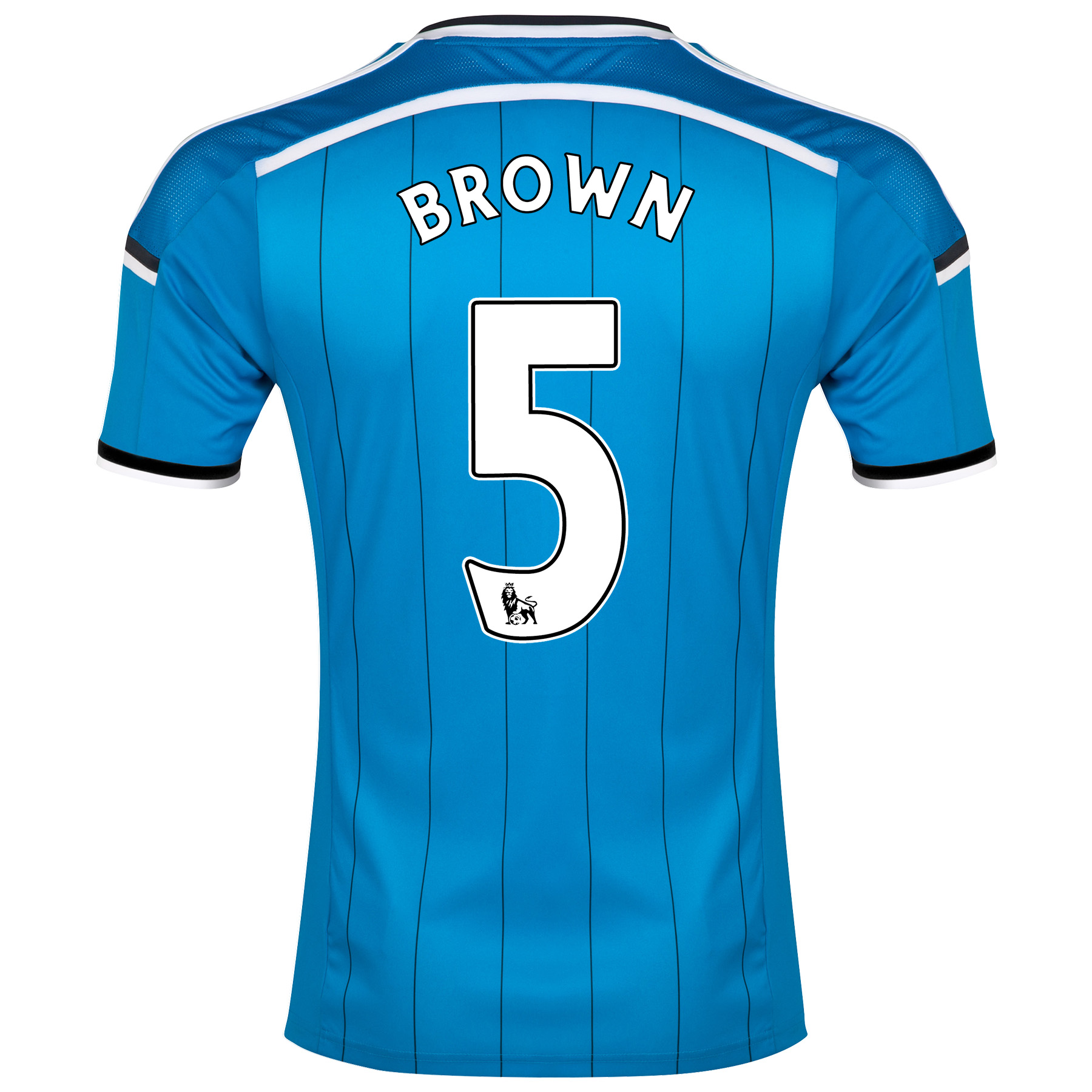 Sunderland Away Shirt 2014/15 - Junior Lt Blue with Brown 5 printing
