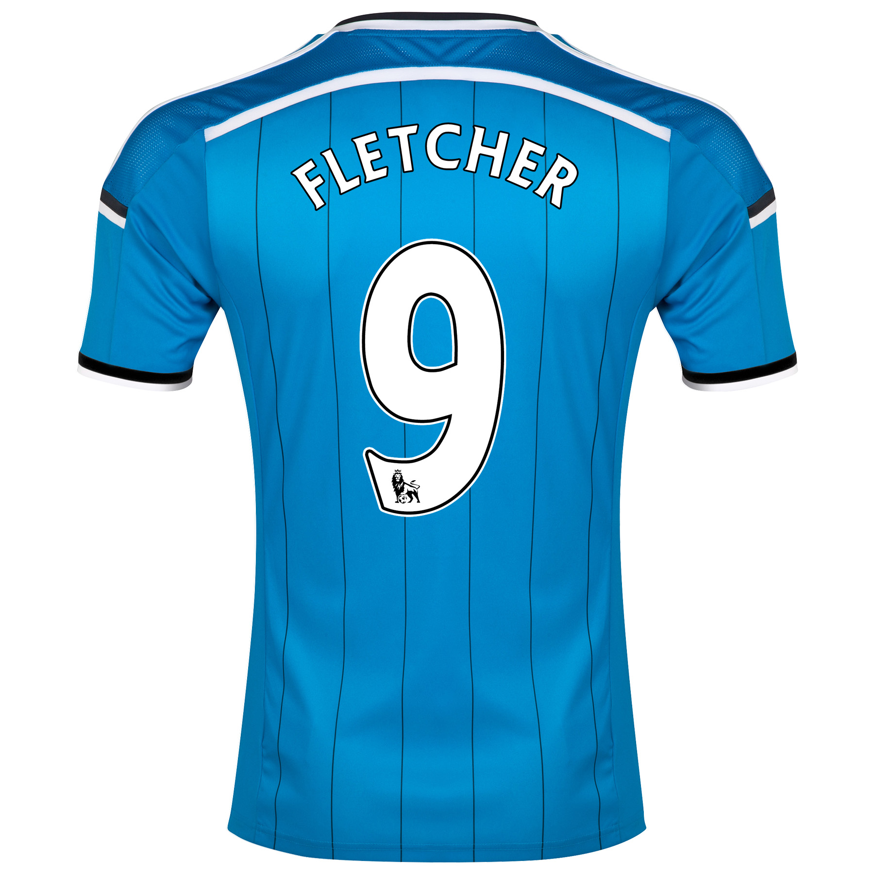 Sunderland Away Shirt 2014/15 - Junior Lt Blue with Fletcher 9 printing