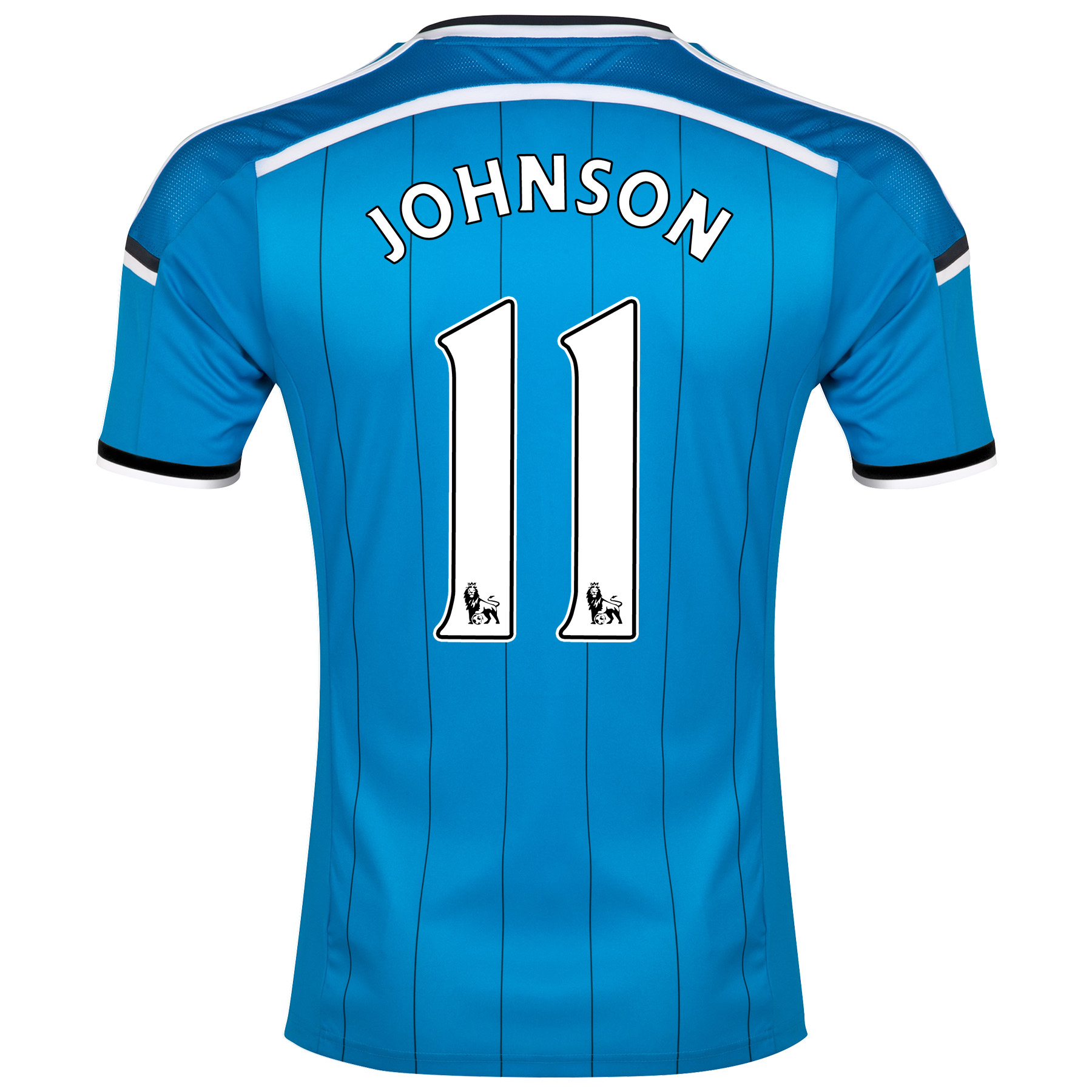 Sunderland Away Shirt 2014/15 - Junior Lt Blue with Johnson 11 printing