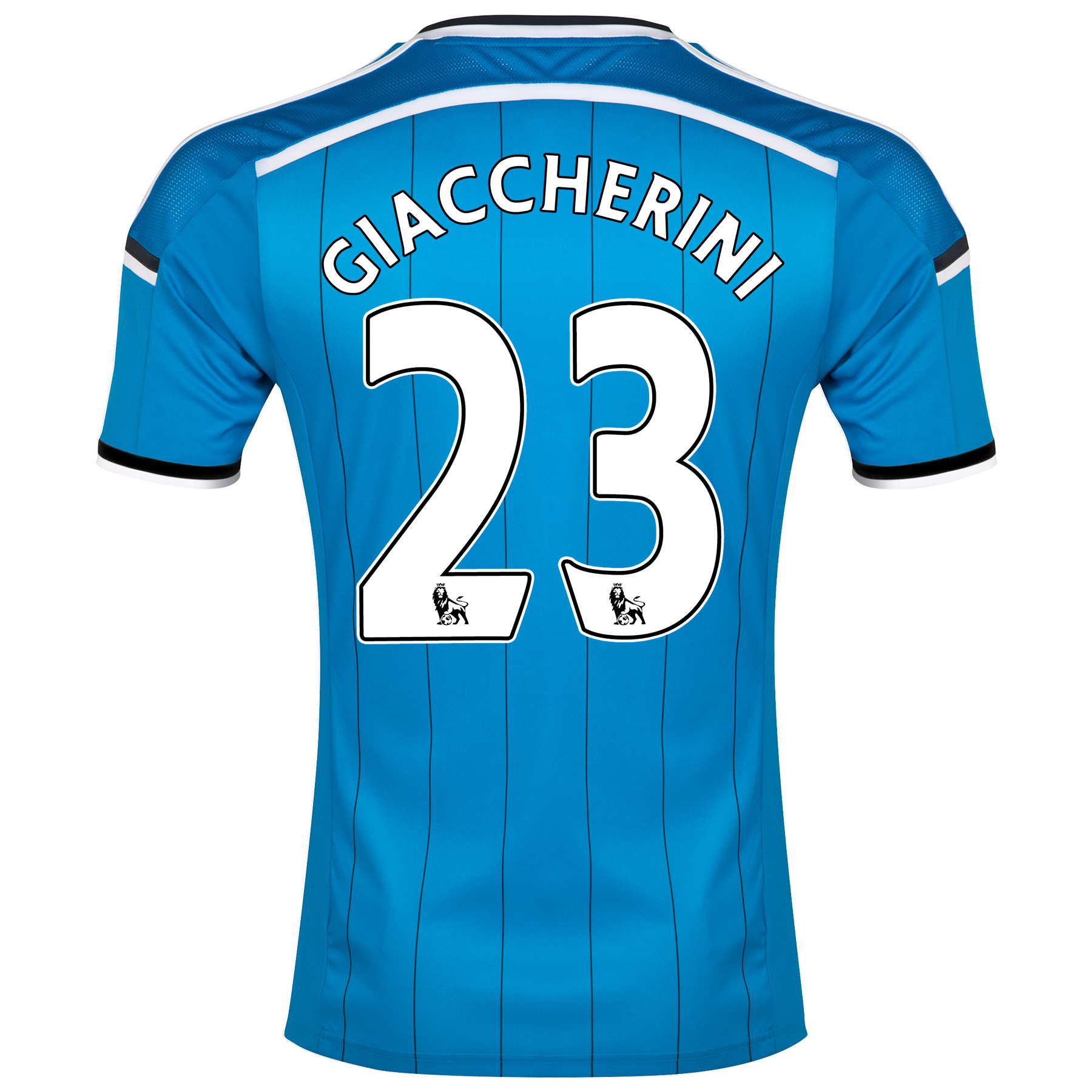Sunderland Away Shirt 2014/15 - Junior Lt Blue with Giaccherini 23 printing