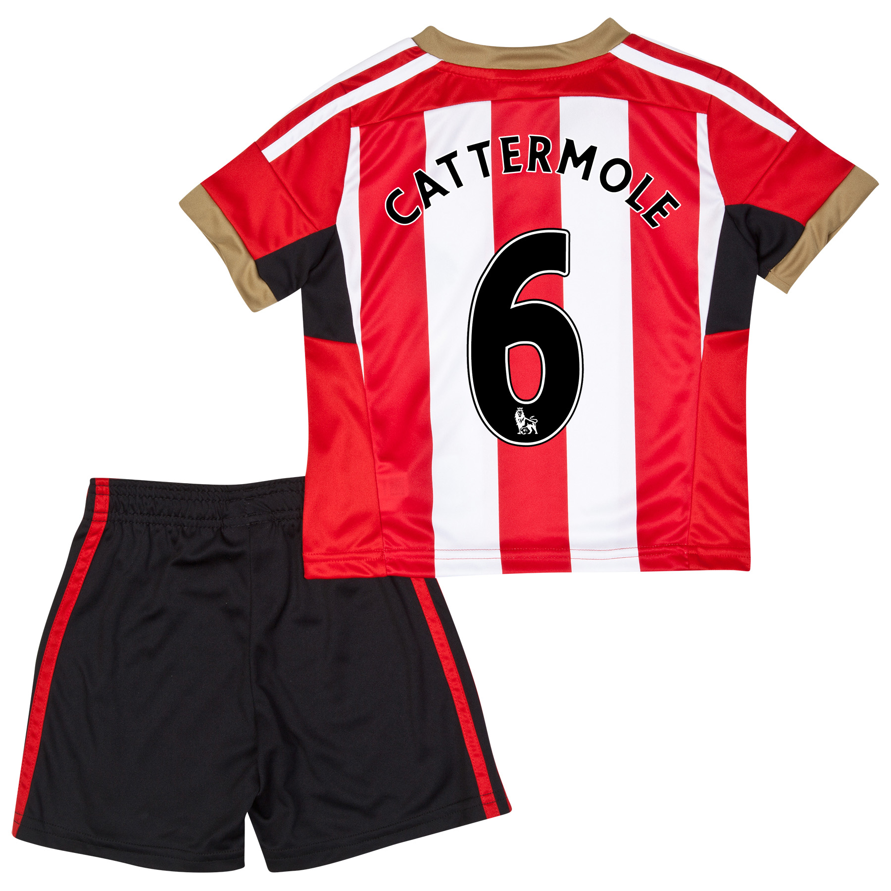 Sunderland Mini Kit 2014/15 Red with Cattermole 6 printing