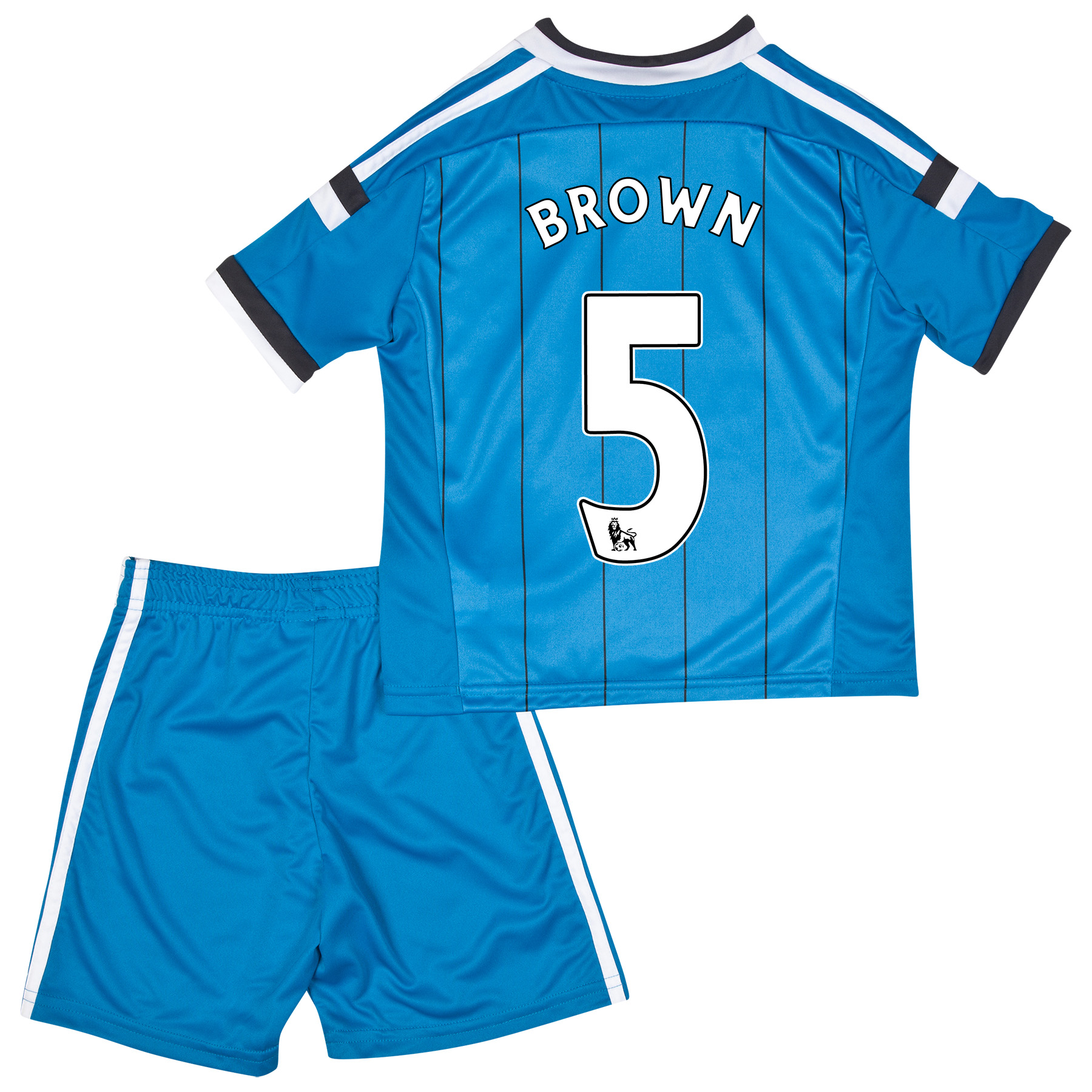 Sunderland Away Mini Kit 2014/15 Lt Blue with Brown 5 printing