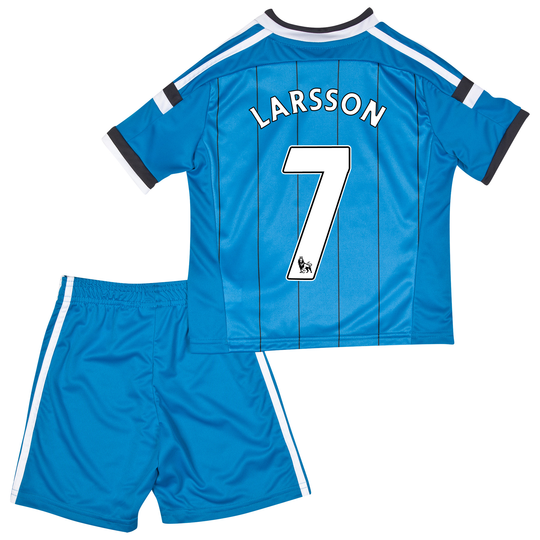 Sunderland Away Mini Kit 2014/15 Lt Blue with Larsson 7 printing