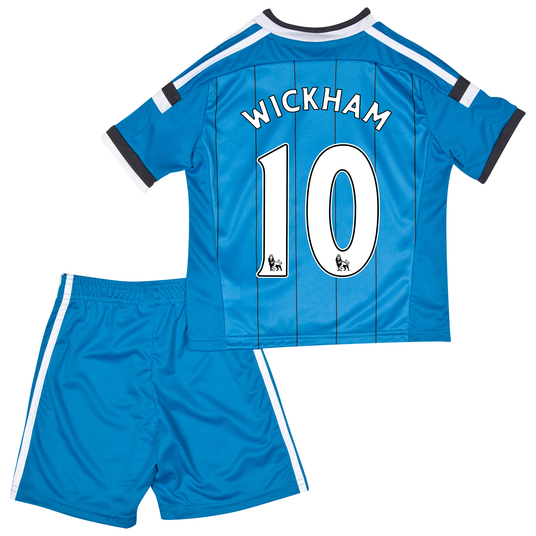 Sunderland Away Mini Kit 2014/15 Lt Blue with Wickham 10 printing