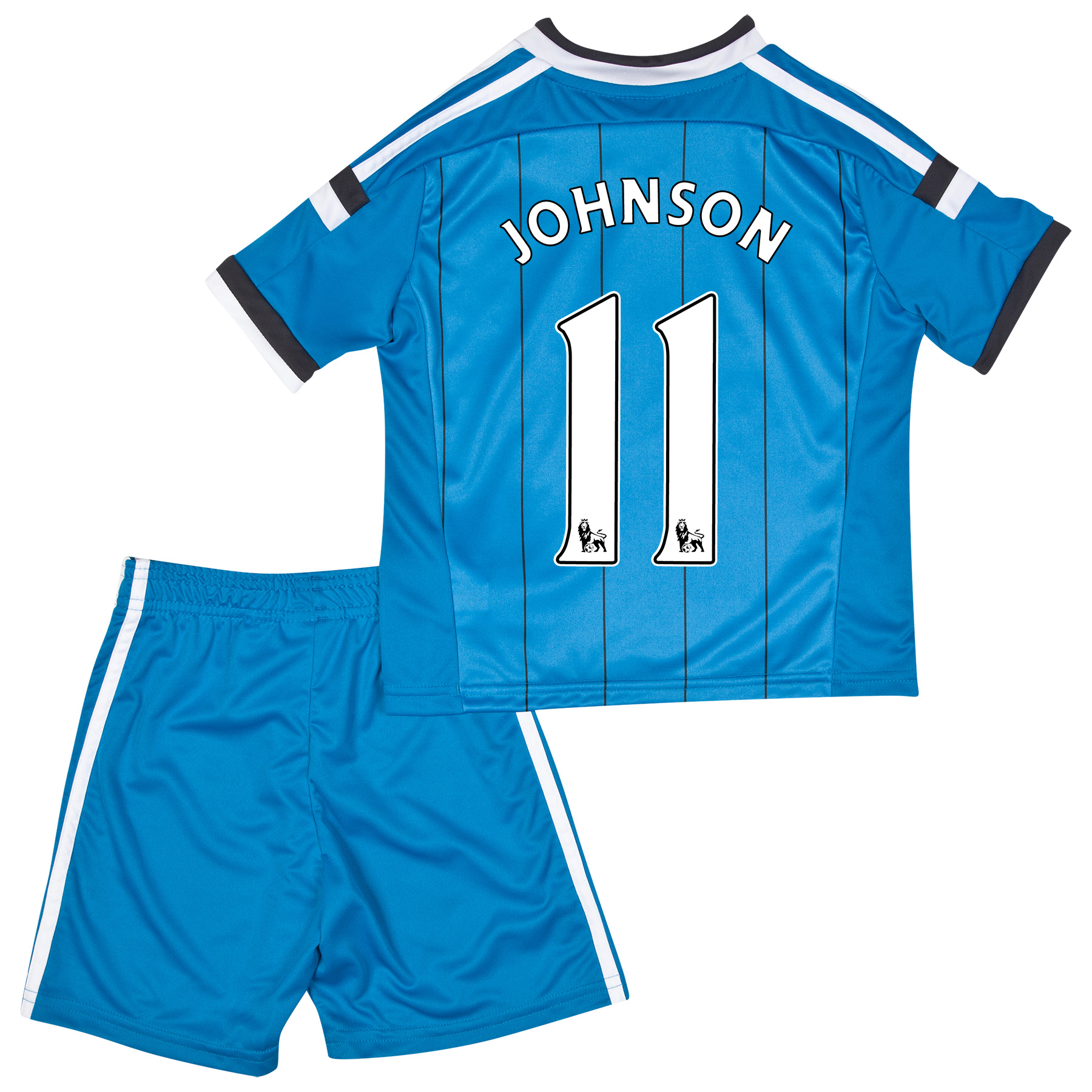Sunderland Away Mini Kit 2014/15 Lt Blue with Johnson 11 printing