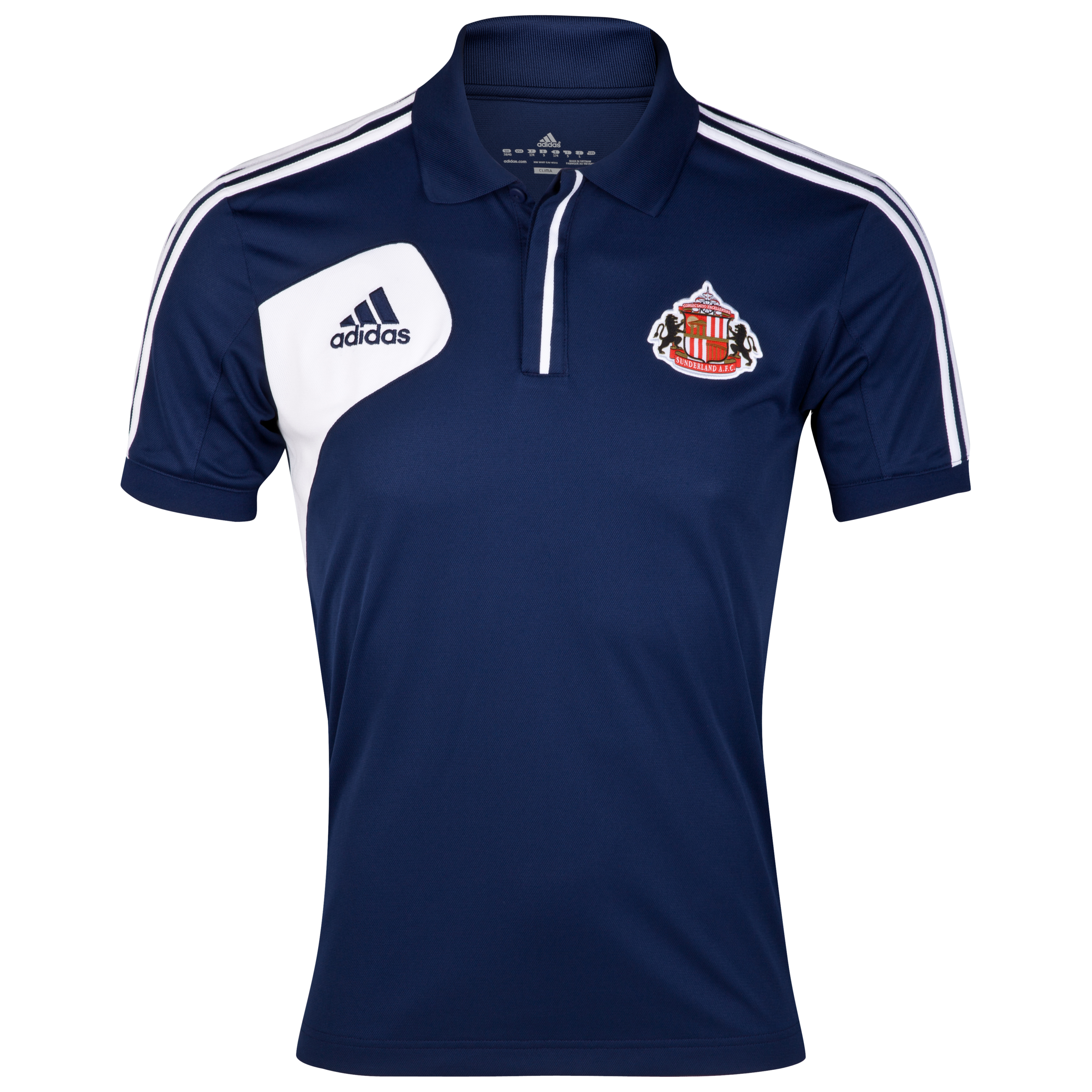 Sunderland Condivo Poly Polo - New Navy/White