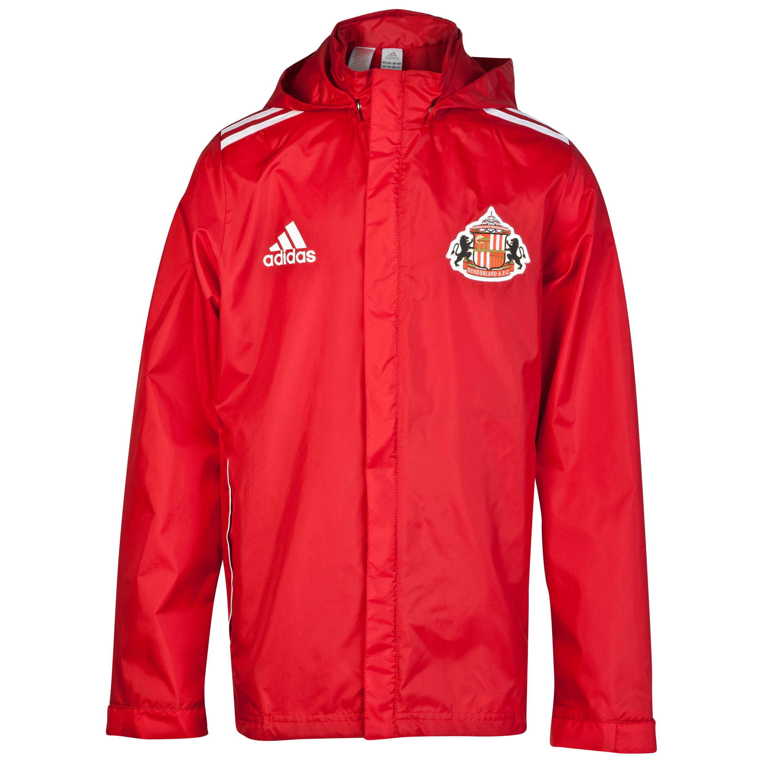Sunderland Core Rain Jacket - University Red/White-Junior