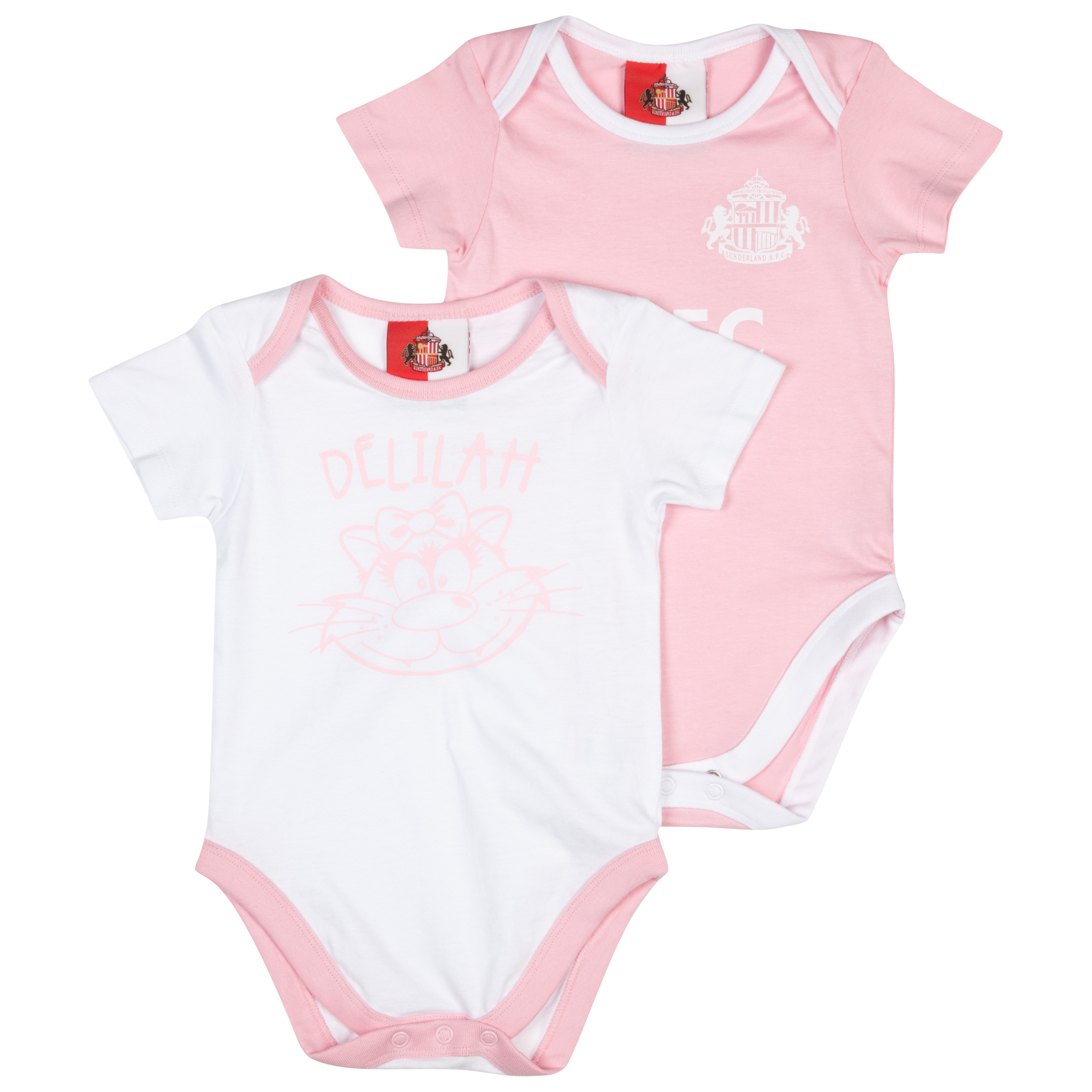 Sunderland Pack of 2 Bodysuits- Pink/White - Baby