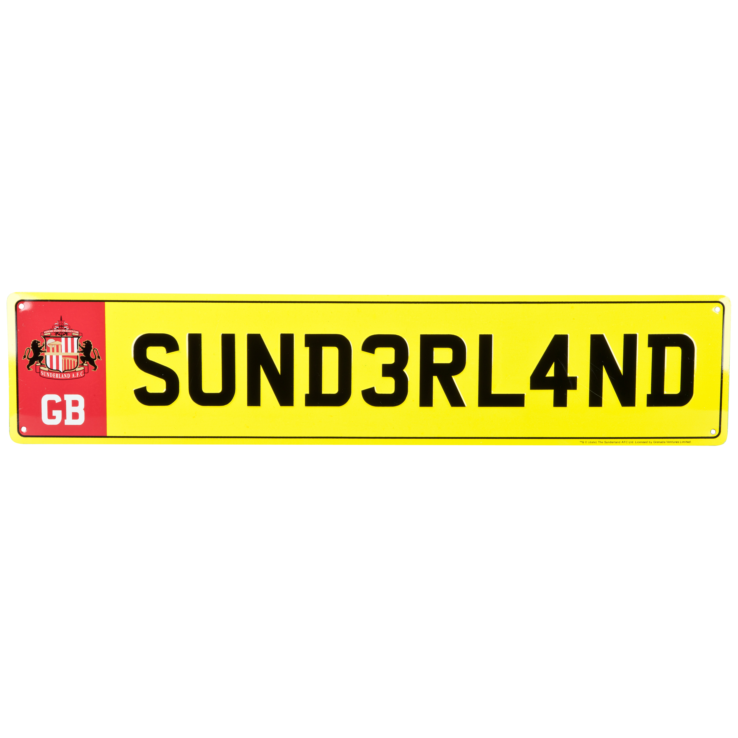 Sunderland Licensed Plate Metal Sign - 52x11