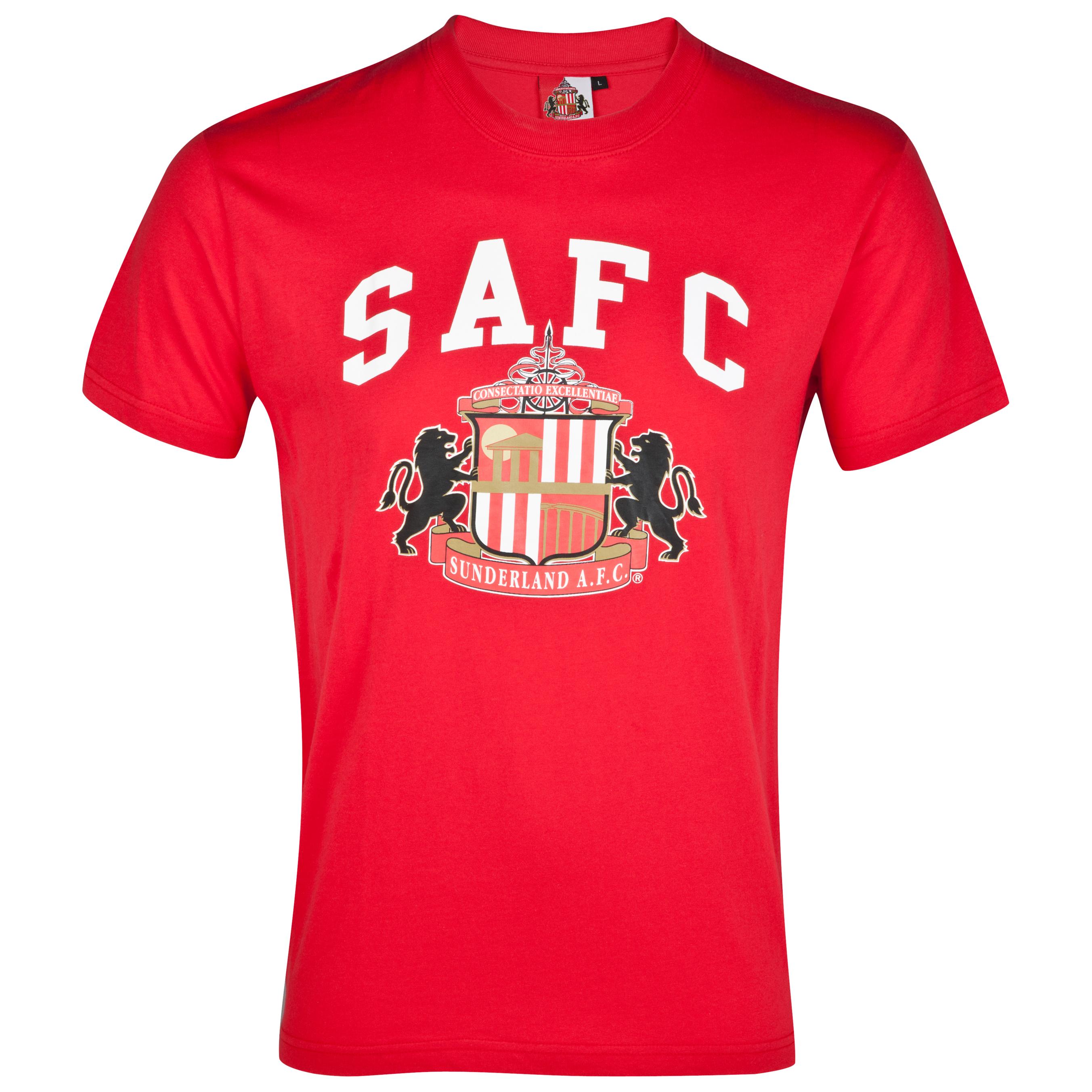 Sunderland Essential Freedom Graphic T-Shirt - Red - Older Boys
