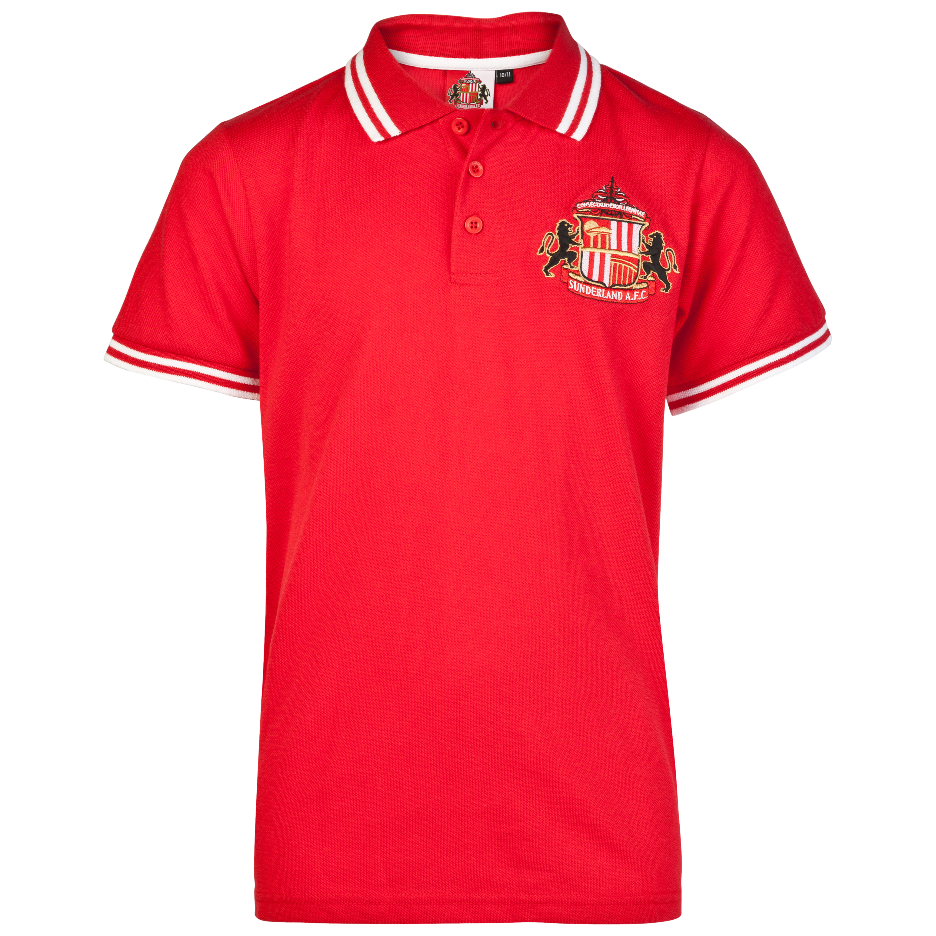 Sunderland Essential Epic Crest Polo Top - Red - Older Boys