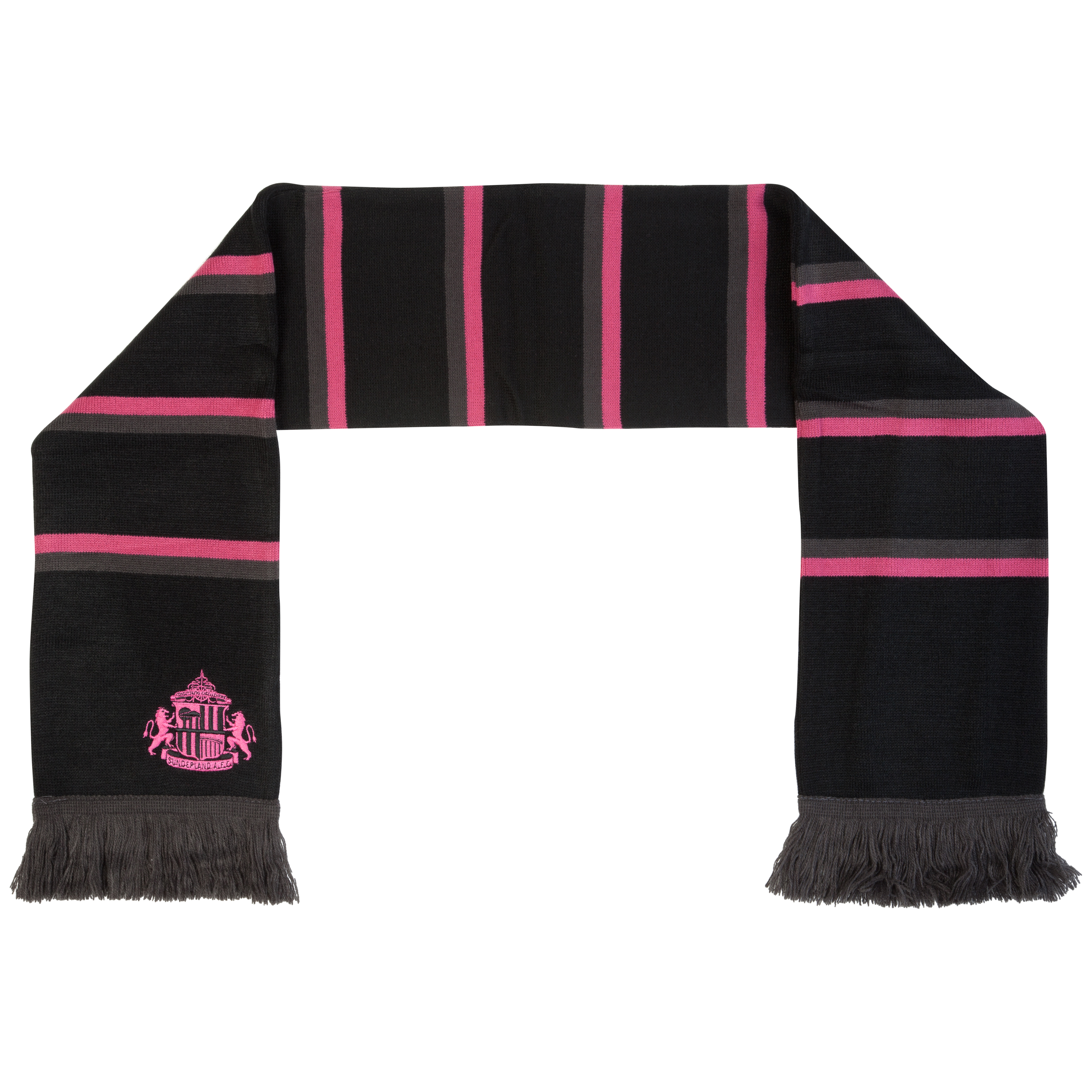 Sunderland Essentials Ladies Bar Jacquard Scarf