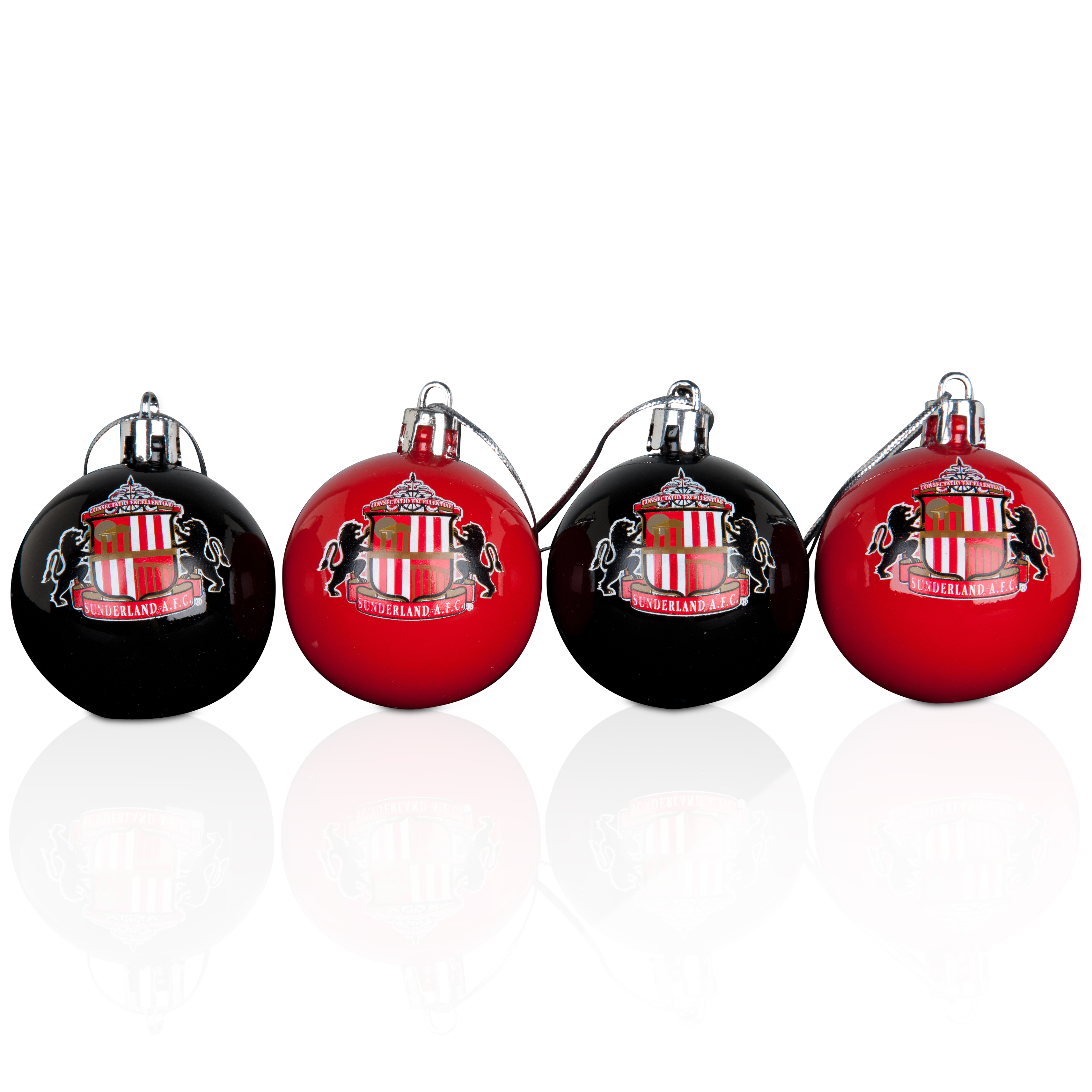 Sunderland 4 Pack of Plastic Baubles