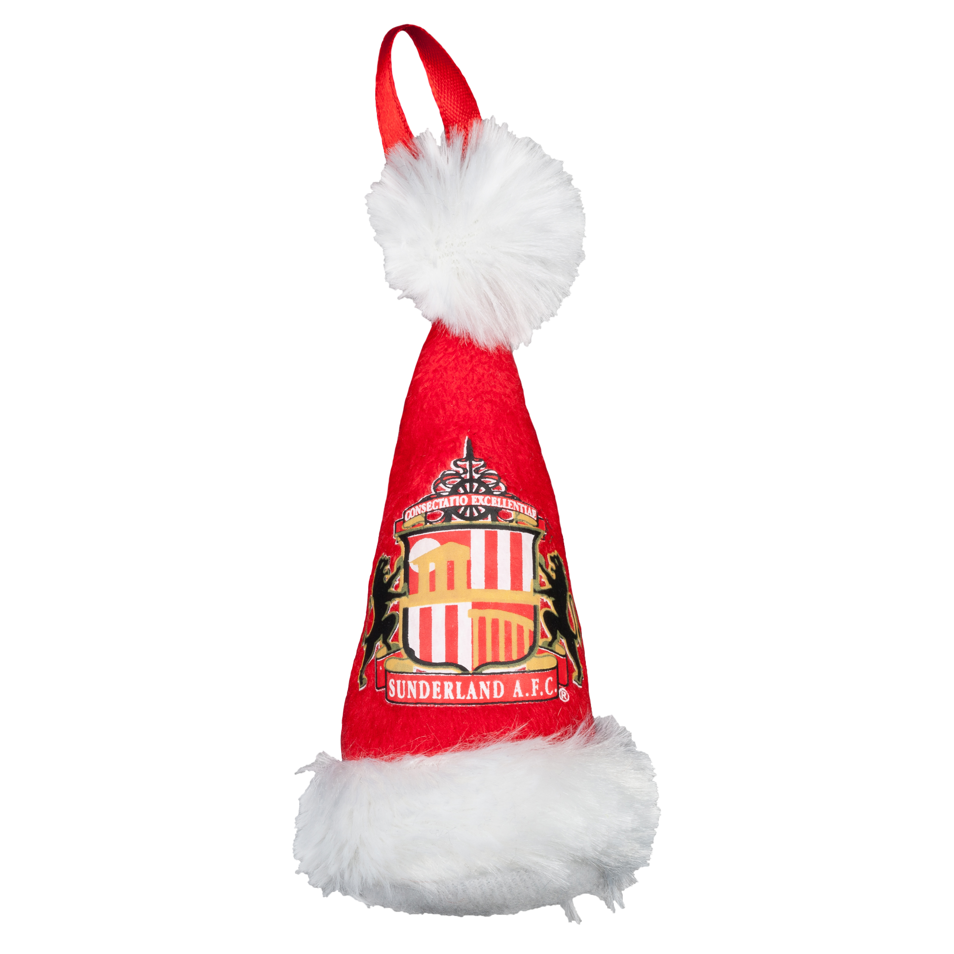 Sunderland Plush Santa Hat Ornament