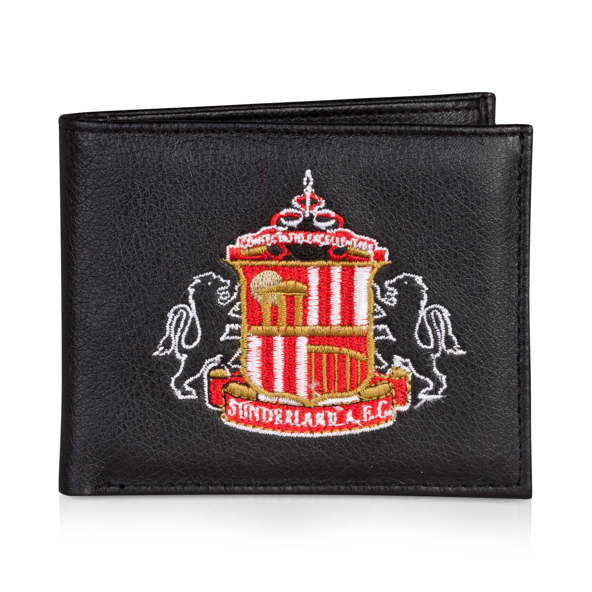 Sunderland Embroidered Crest Wallet - Black