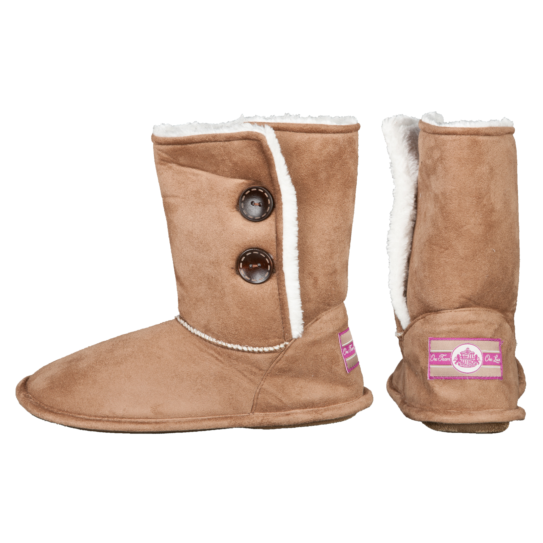 Sunderland Bella Boot Slipper - Tan - Girls